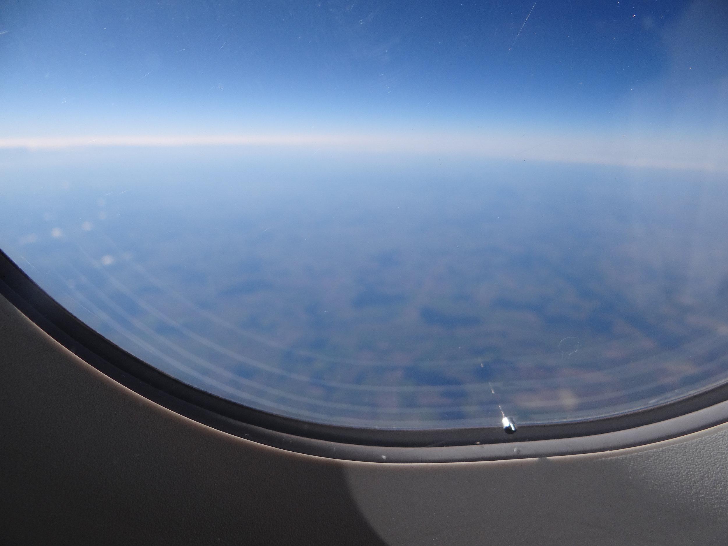 Somewhere over Belarus...