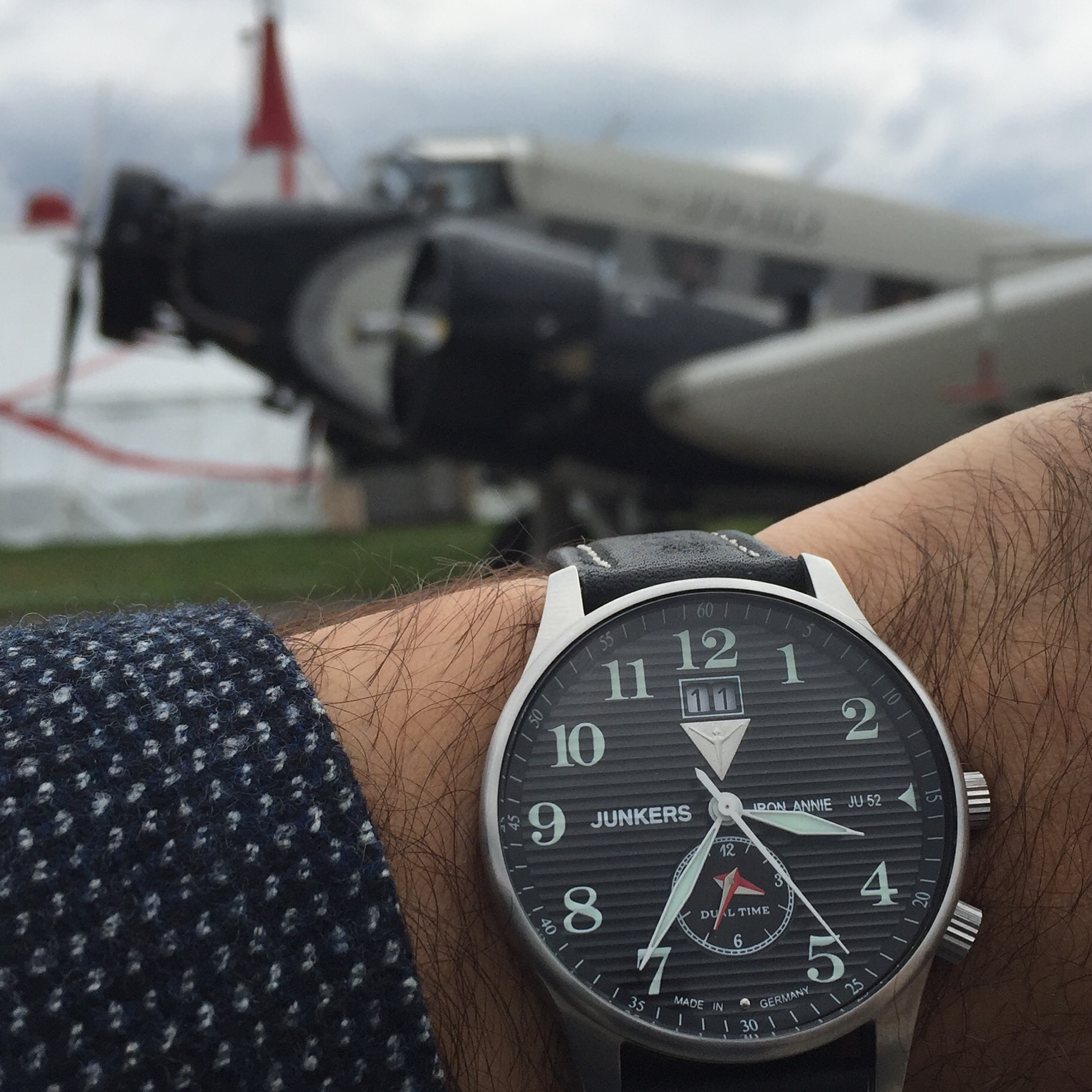 By the way, Junkers has also its own range of watches, decorated (on the reverse) with the siluette of the Ju-52. I got mine as a gift, coincidentally, just a few months before I knew I was going to experience the Ju-52 for real!
