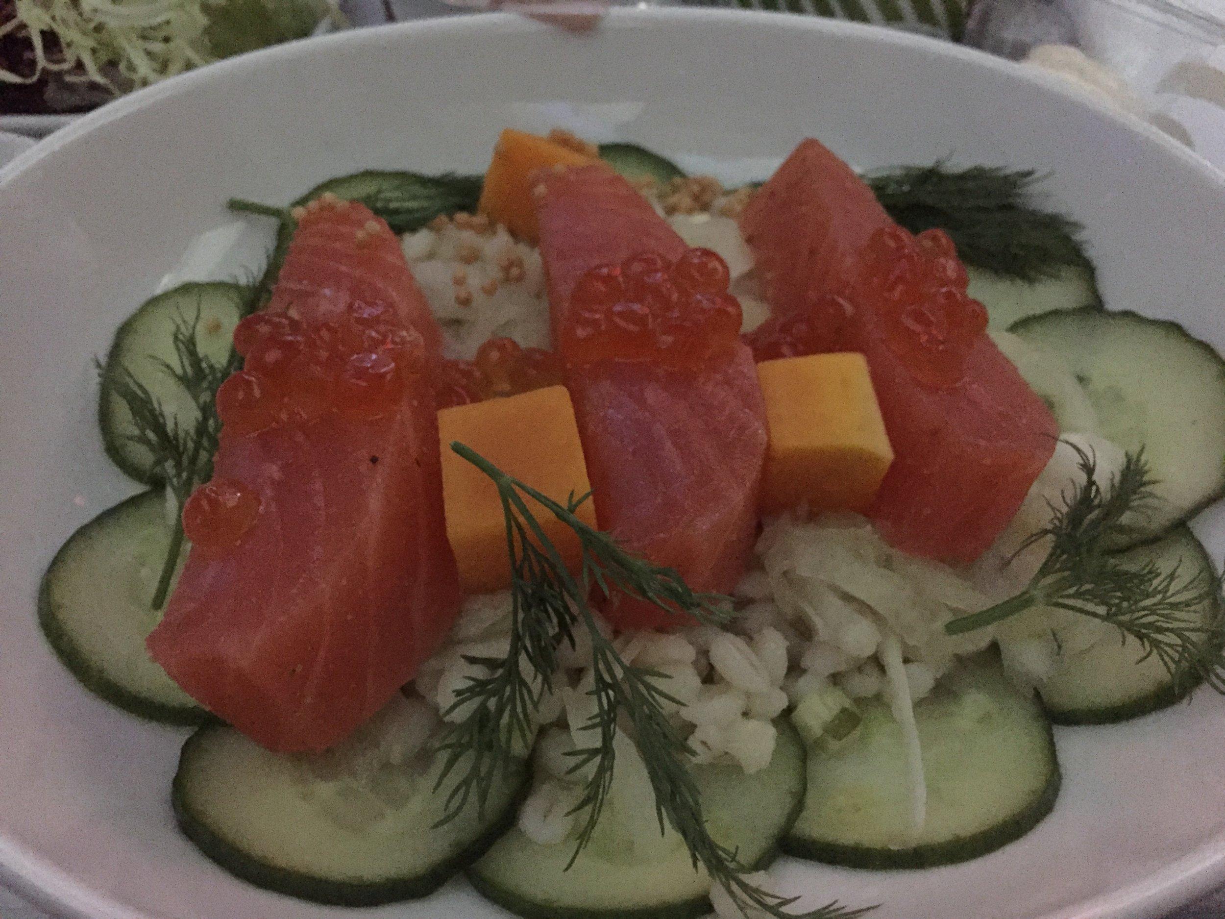 finnair business class meal.JPG