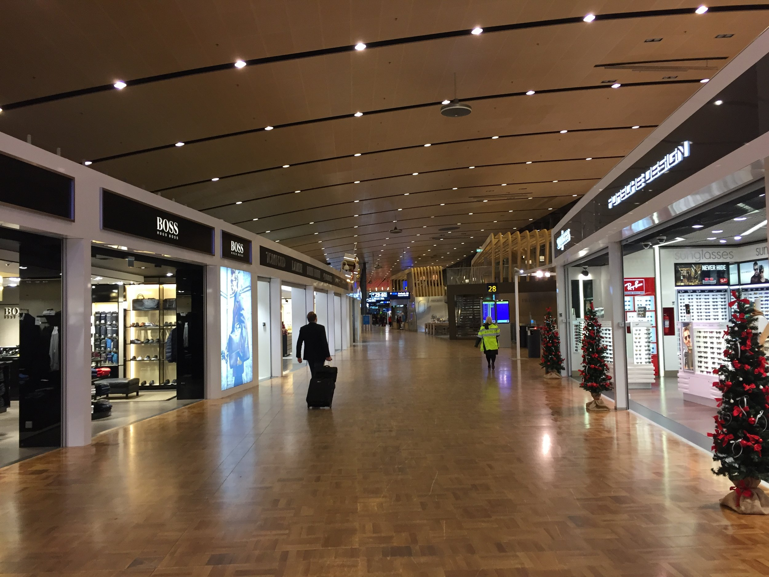 Helsinki airport was not particularly busy at this time of the night...