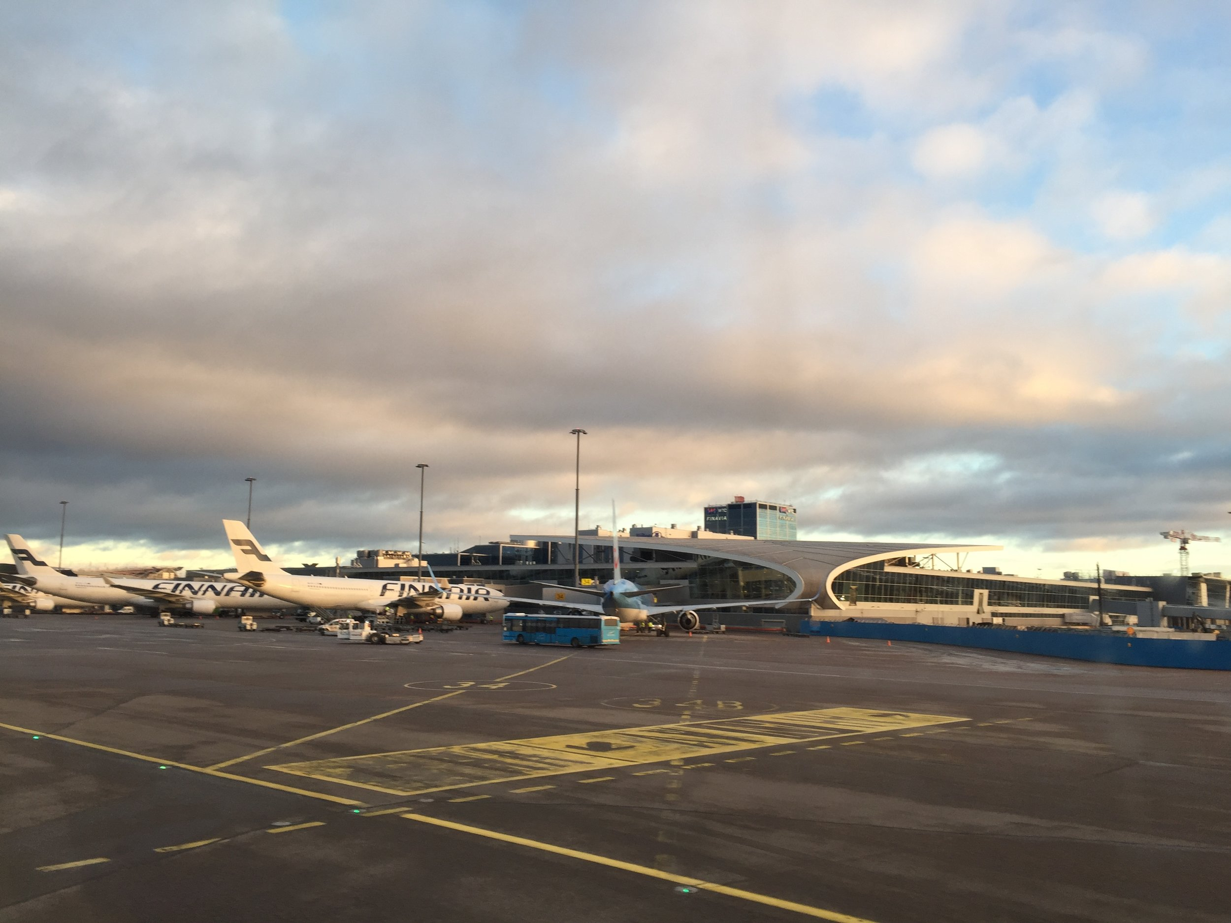 Helsinki airport has all facilities under one roof