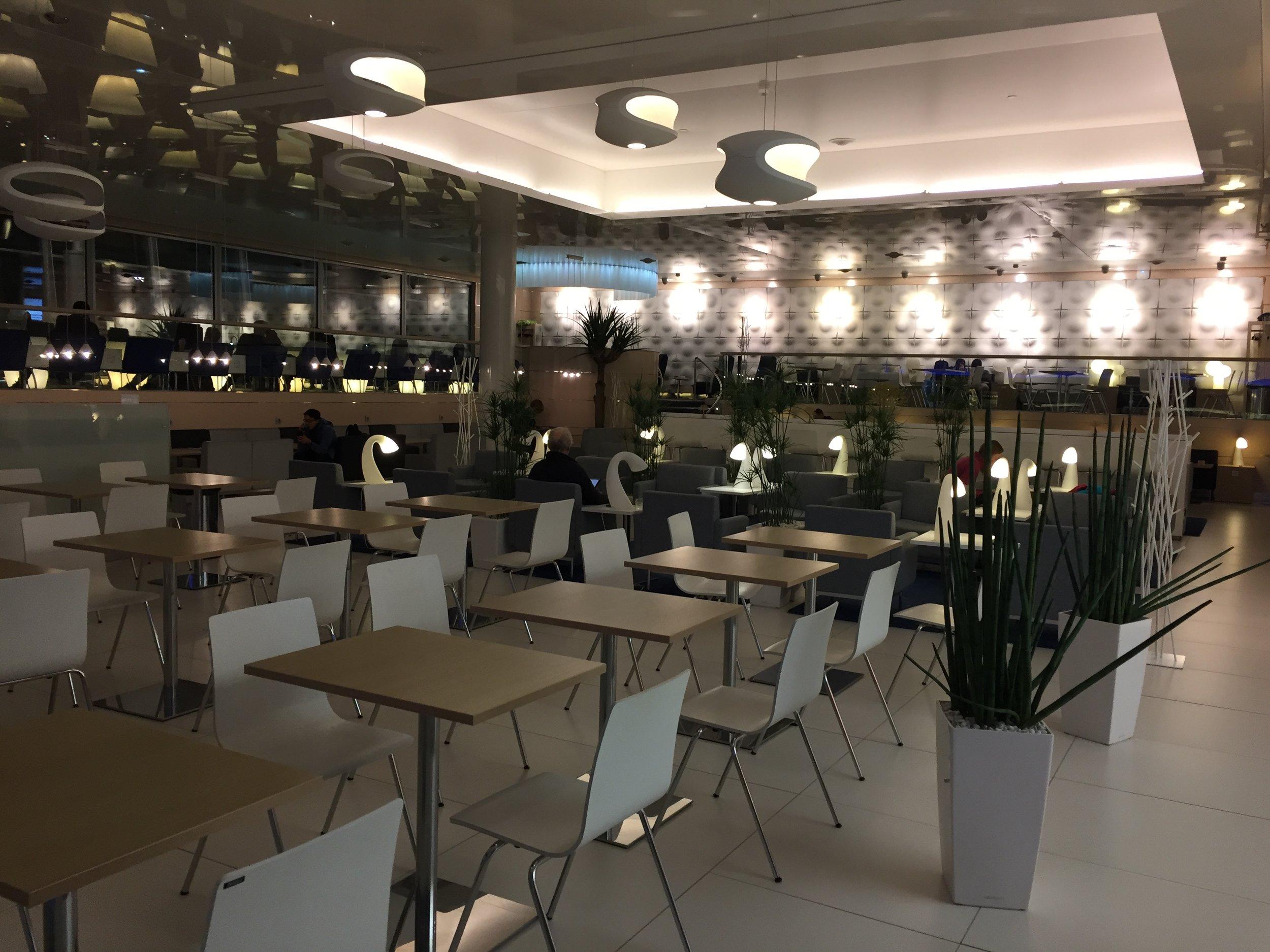 A view of Finnair's main lounge