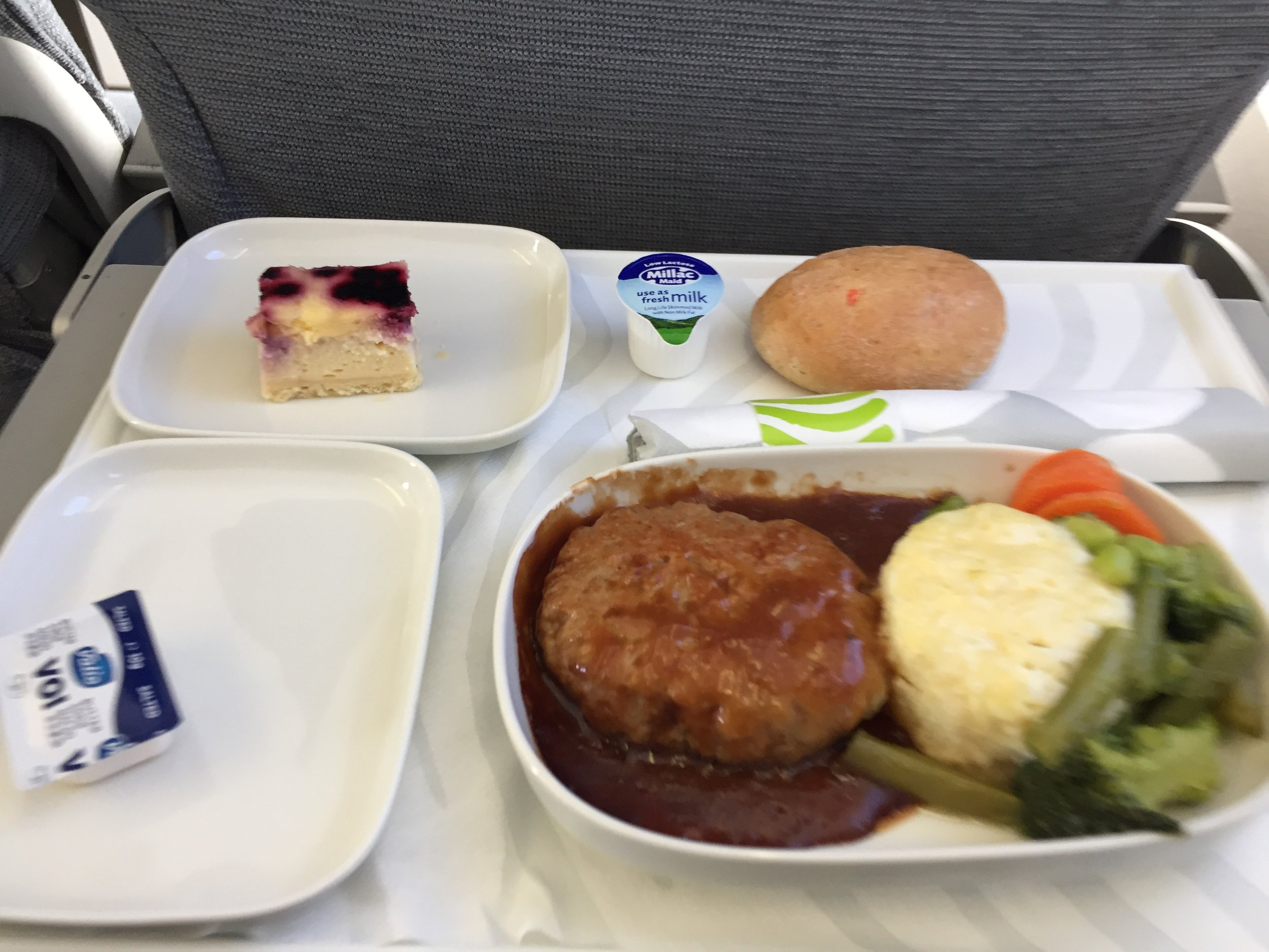 The food, quick correct for a relatively short flight (1.5h)