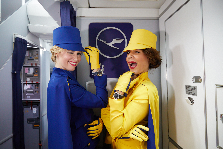 Lufthansa retro crew uniform