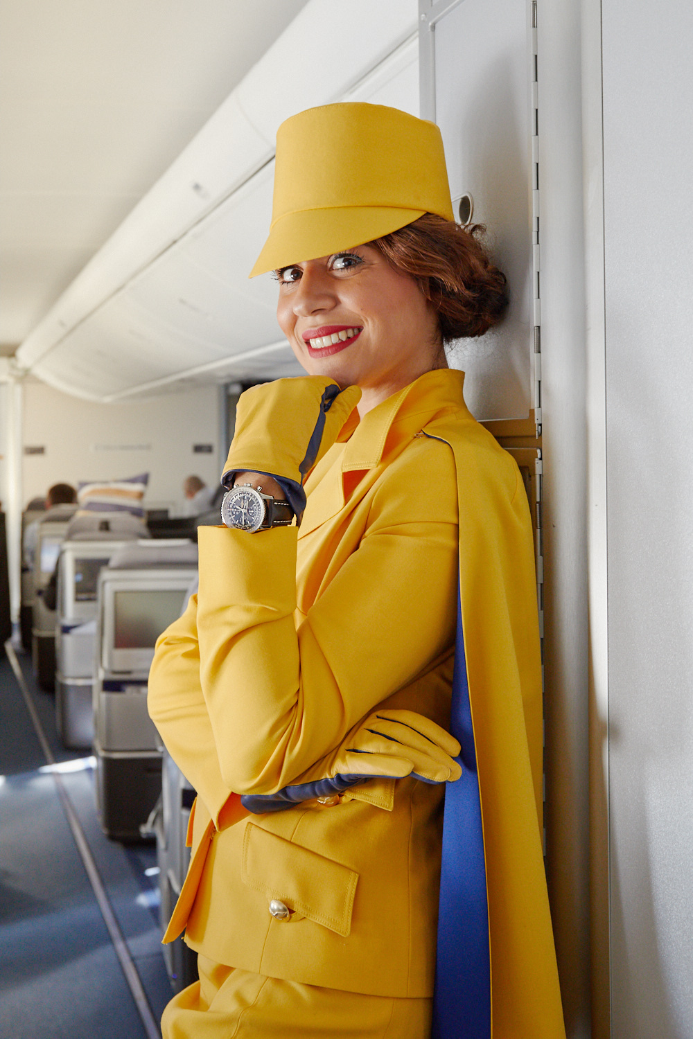 Very obviously, Breitling was one of the sponsors of Lufthansa's Fashion Flight! Picture: Lufthansa