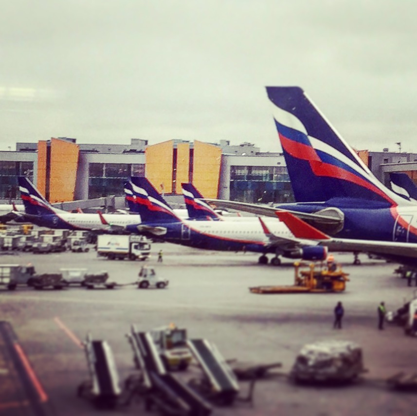 Back at Aeroflot's Sheremetyevo home - to keep up with the stereotypes, and despite being late April, it was snowing lightly when boarding