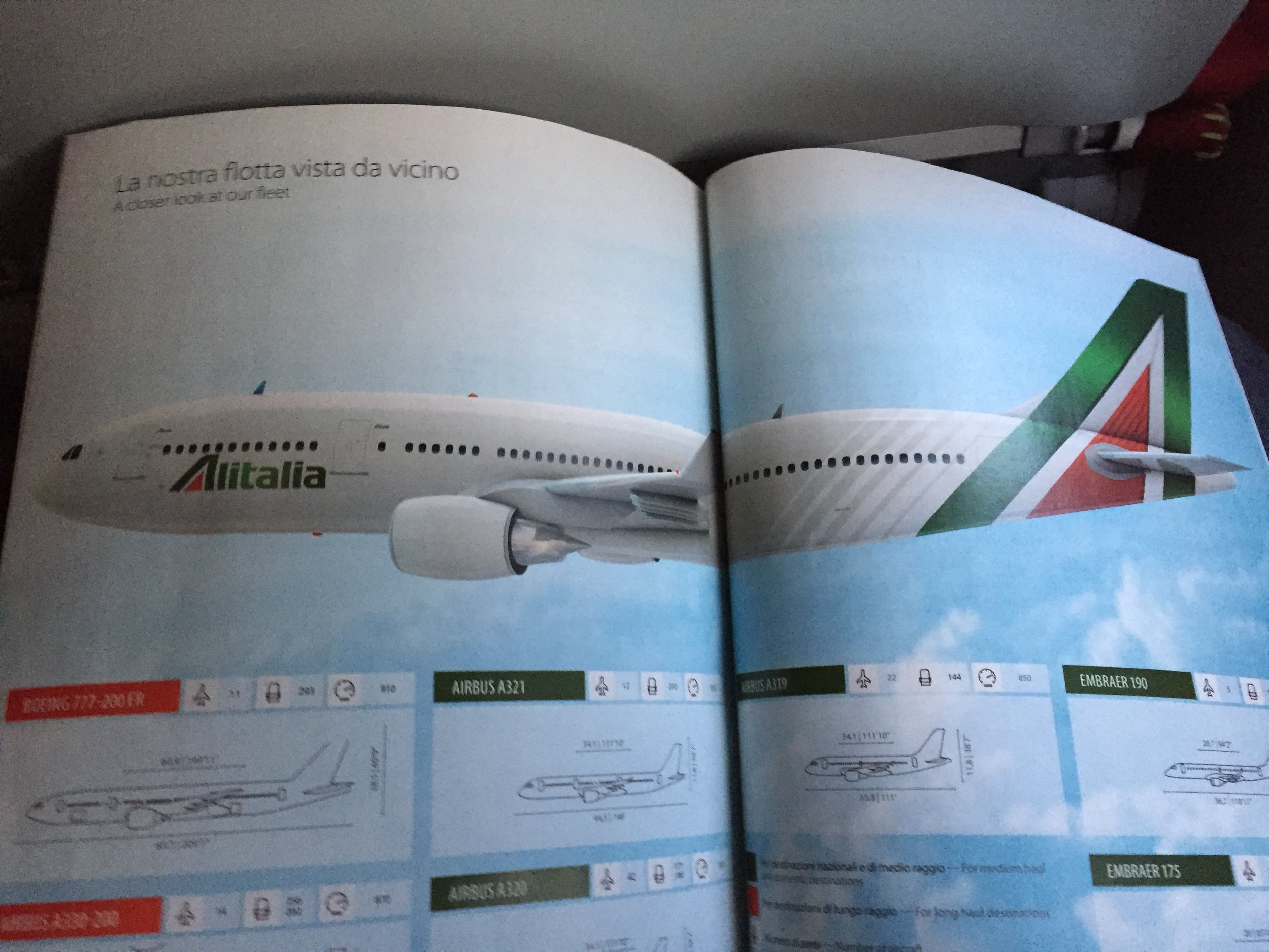"I also liked this Alitalia fleet depiction. Although I must confess that, when it comes to the outside of the airplane, I have trouble finding out what the ""rebranding"" consisted of."