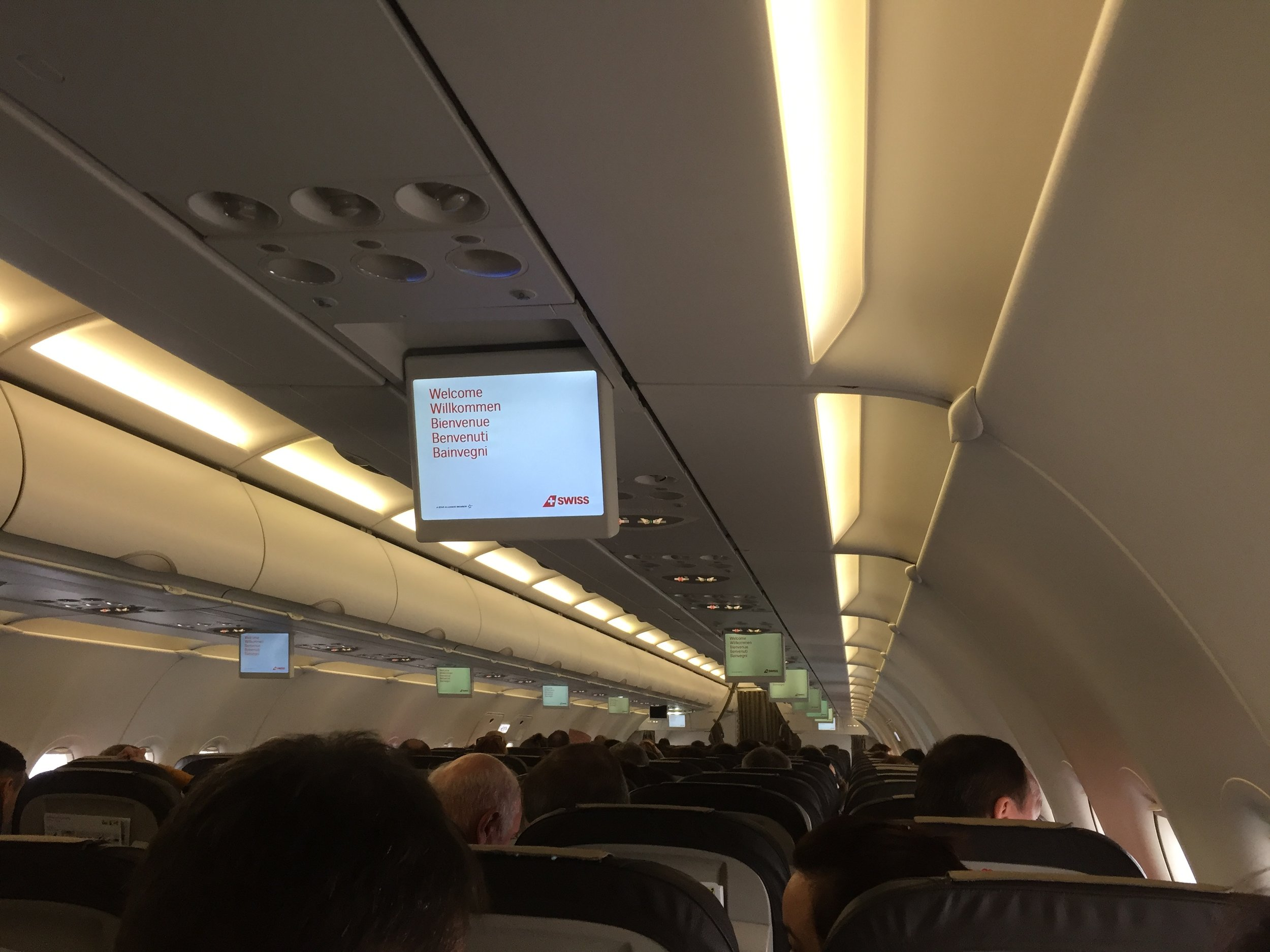 Another view of the cabin, this is a five year old plane (HB-JLS)