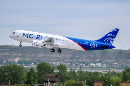 MC21 irkut flying