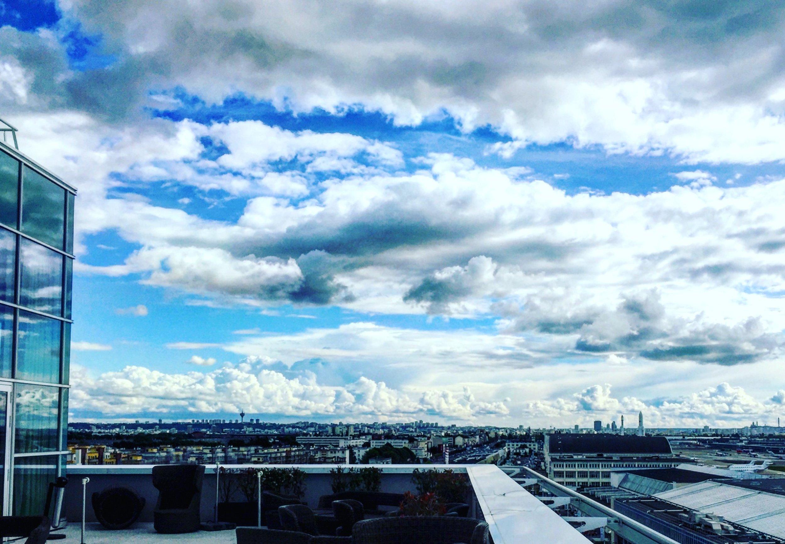 Paris, in the distance