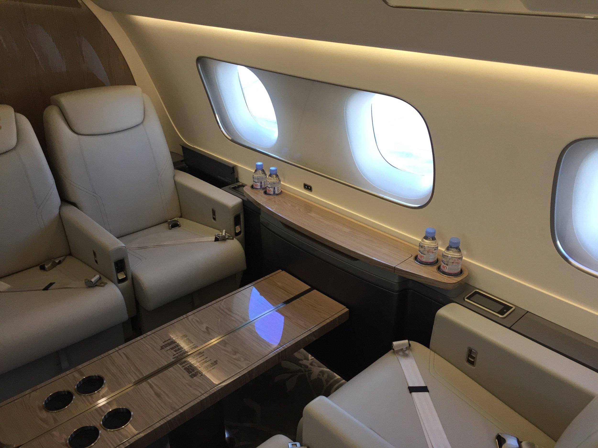 A closer look at the seats