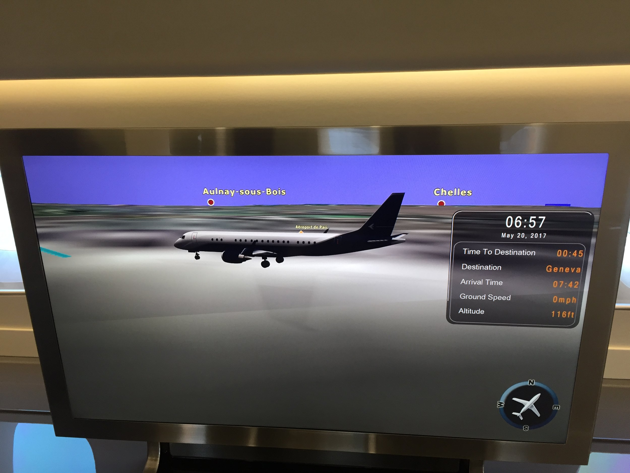 The flight tracking map. You could watch it from the sofa