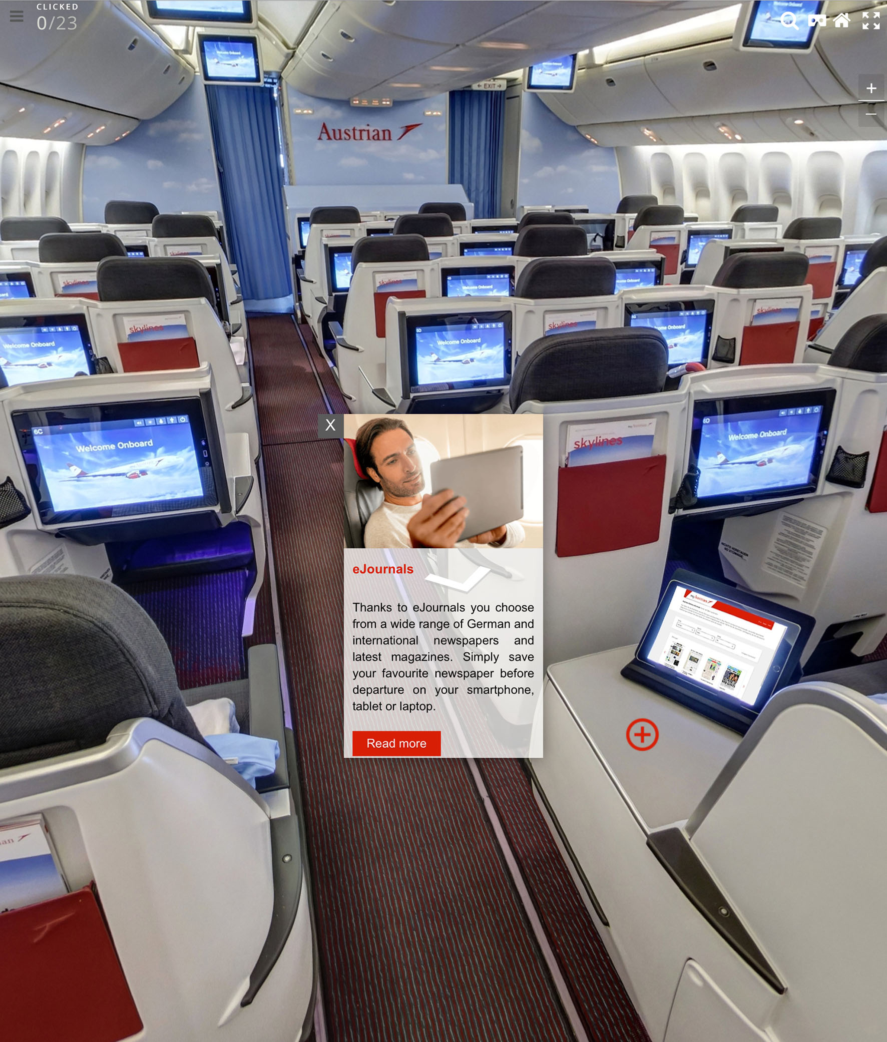 Business class on an Austrian Boeing 777