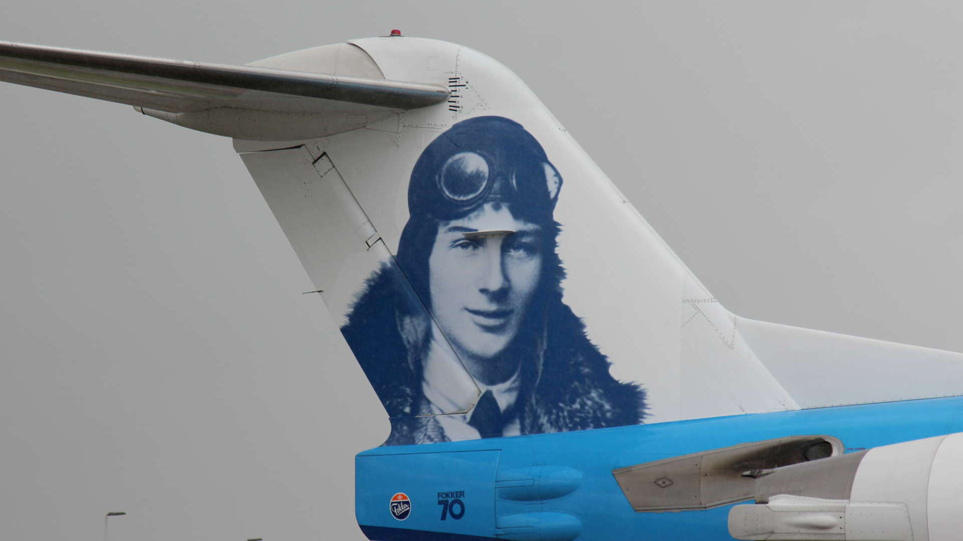 Homage to Anthony Fokker. Picture: KLM