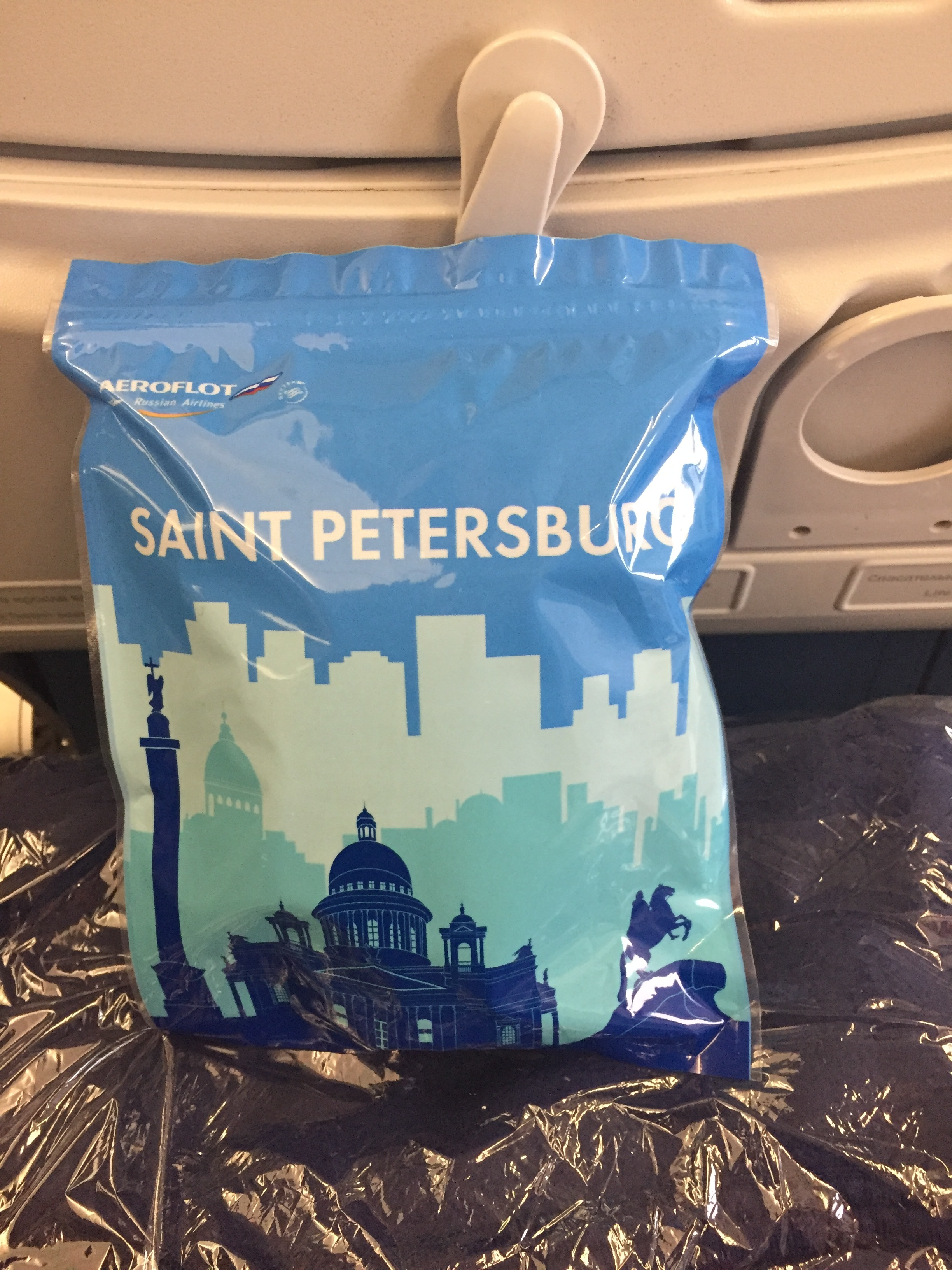 I chose the beautiful city of St.Petersburg for my amenity bag. The other contenders were Amsterdam and Astana.
