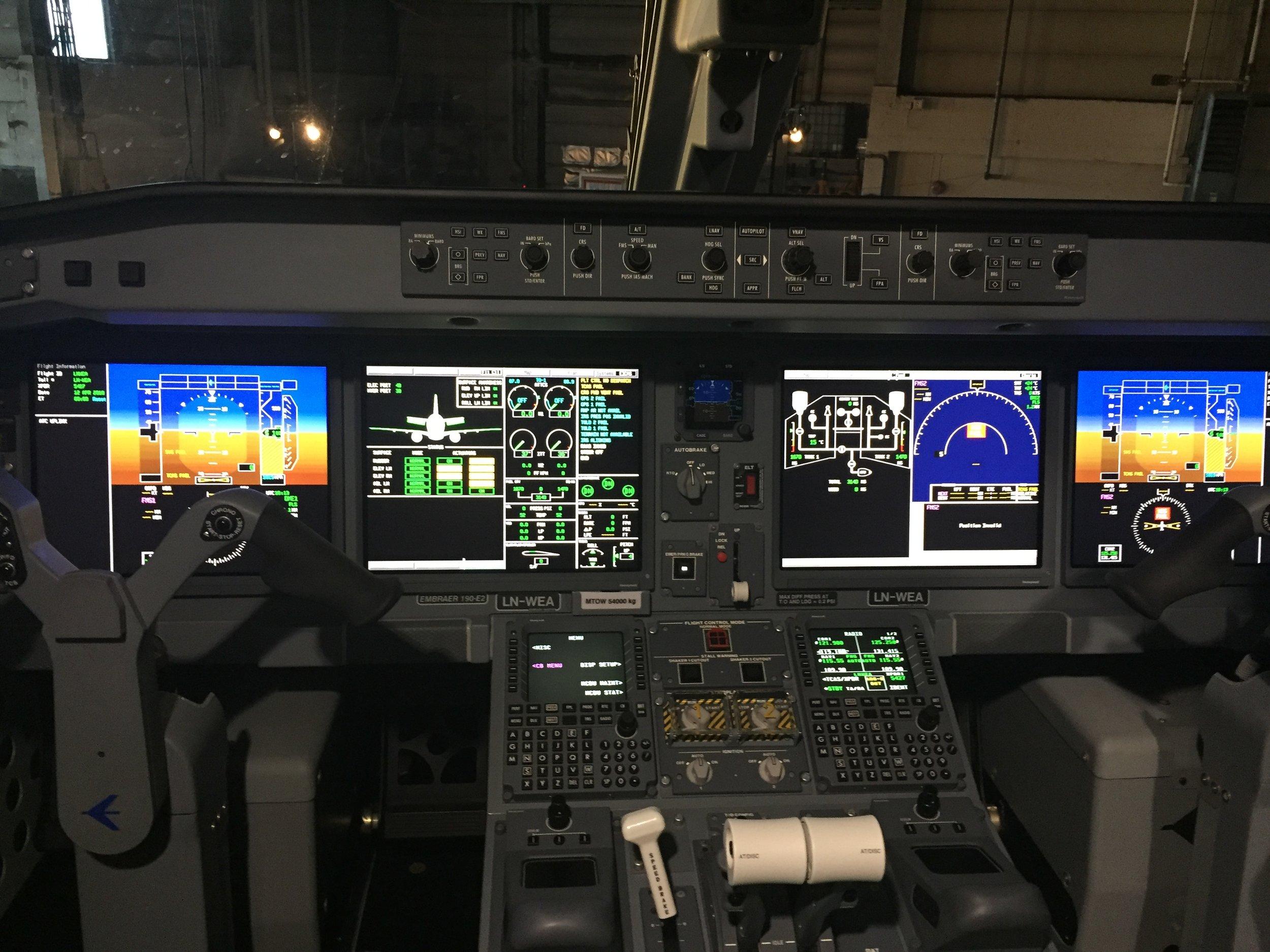 E2 cockpit