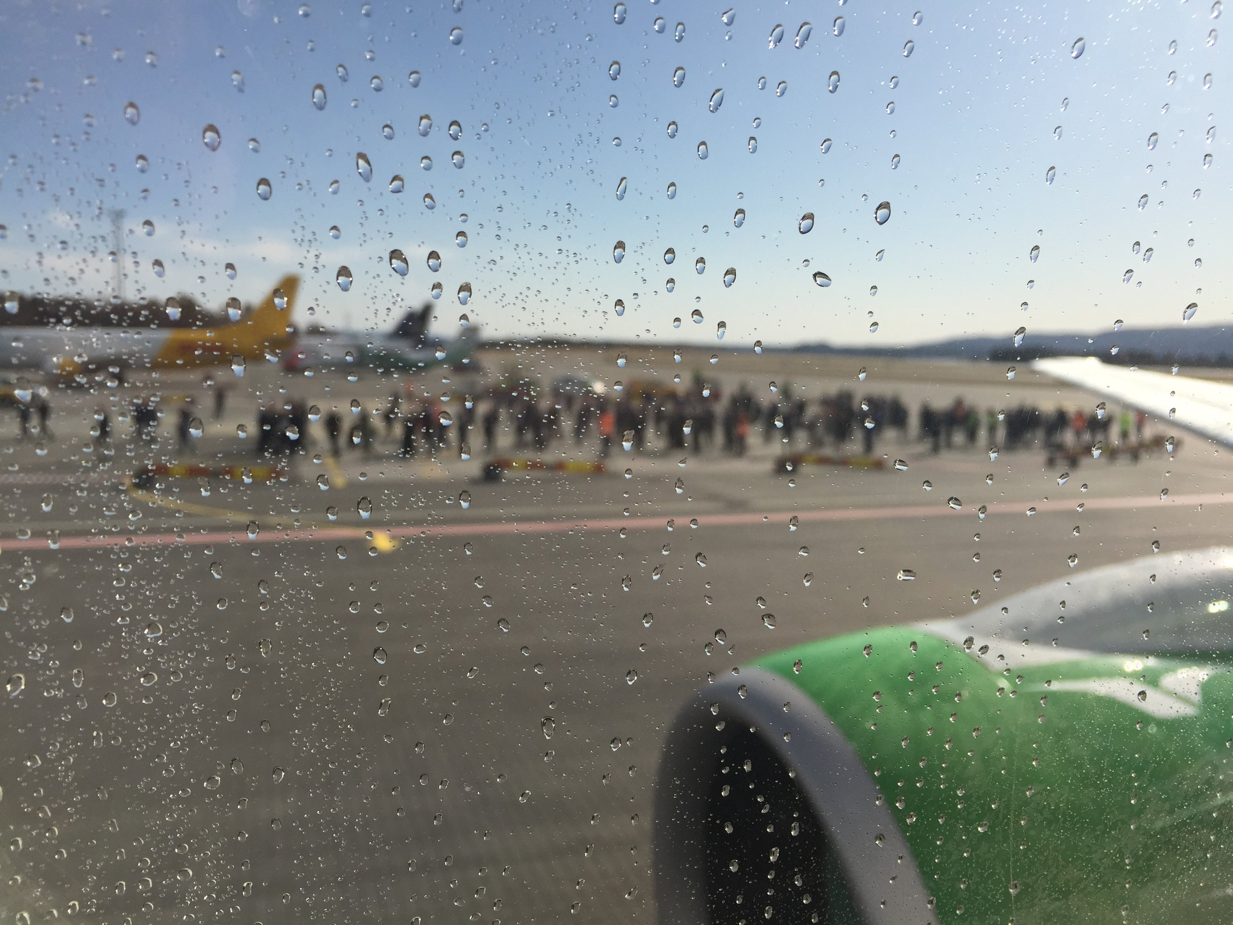 Right after the water salute