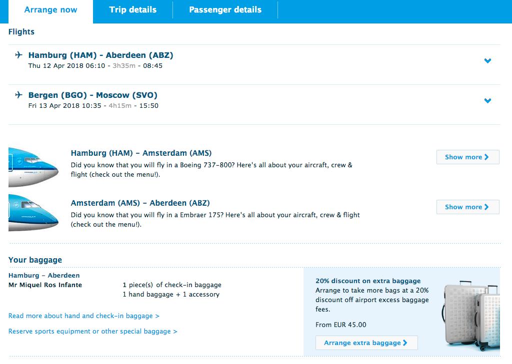 klm aircraft info