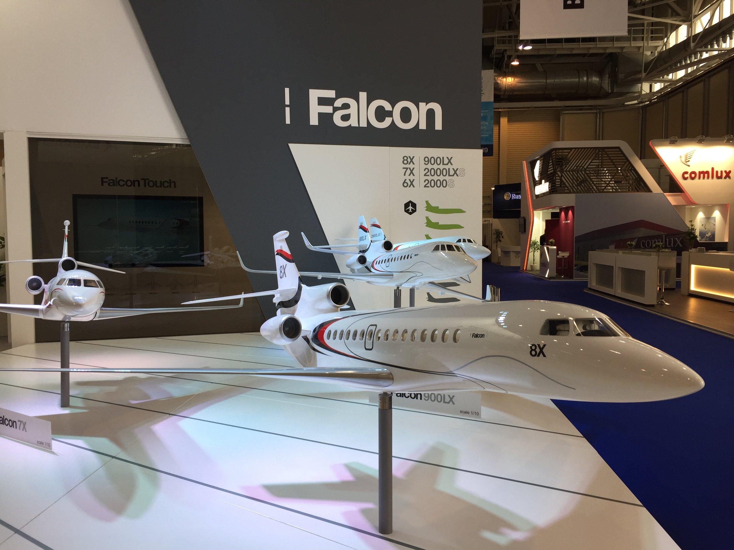 The Dassault Falcon executive jet family