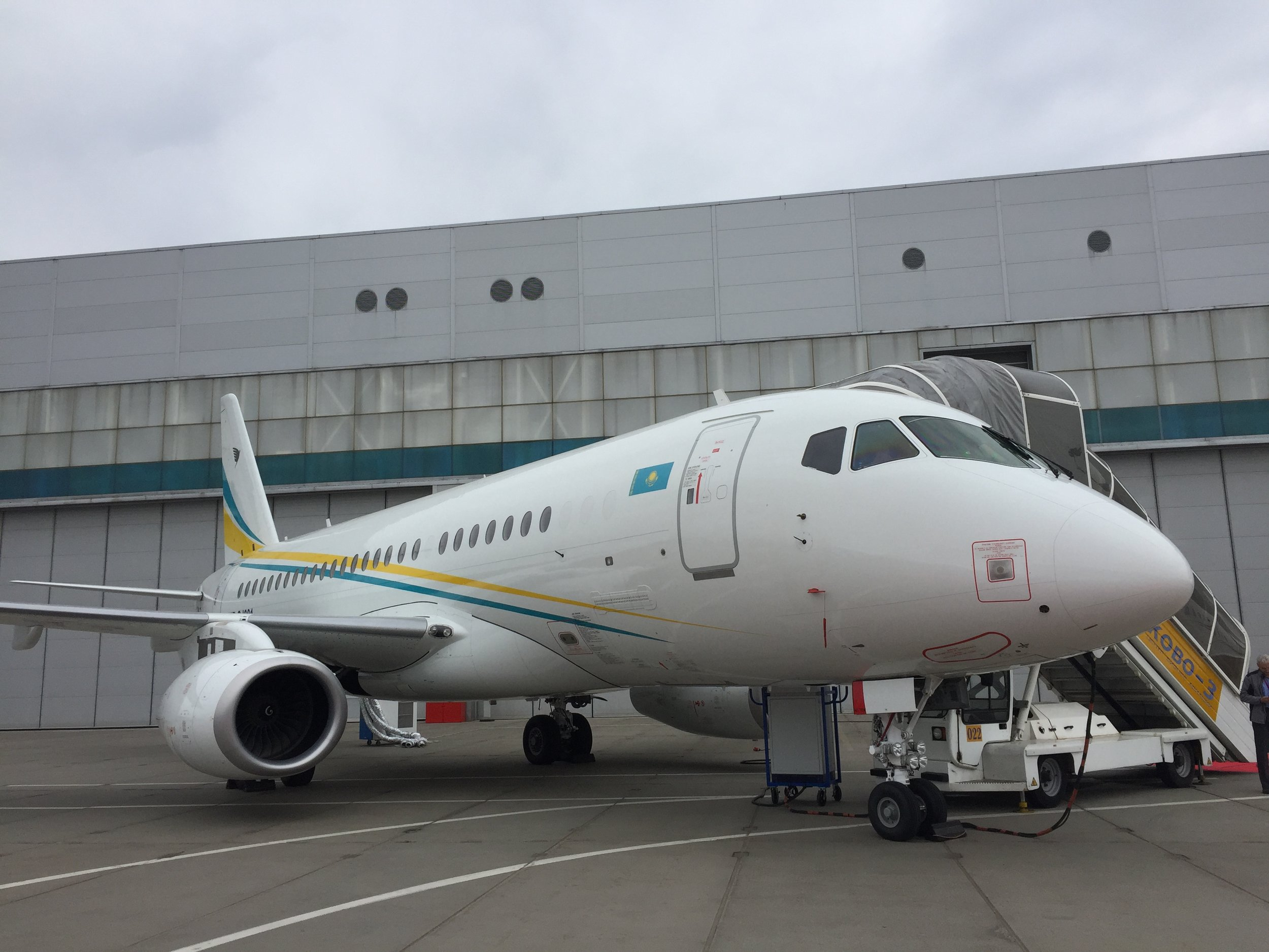 The largest jet at the show. By the way, if you are looking for a private jet, this Sukhoi Business Jet (the corporate version of the Super Jet), currently in service in Kazakstan, has been put back in the market by Comlux