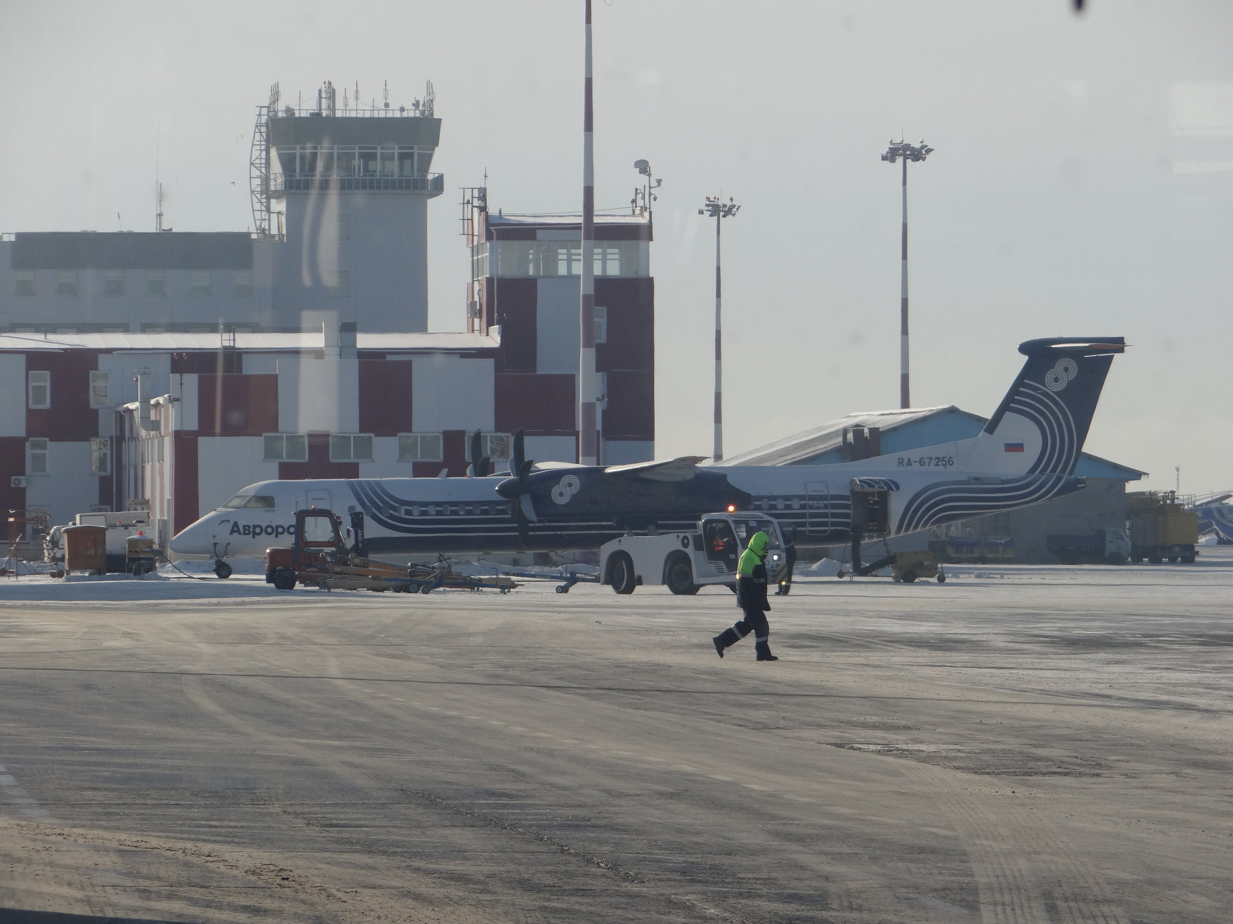 Aurora uses Bombardier Dash turboprops to link Yuzhno-Sakhalinsk to several smaller outlying islands