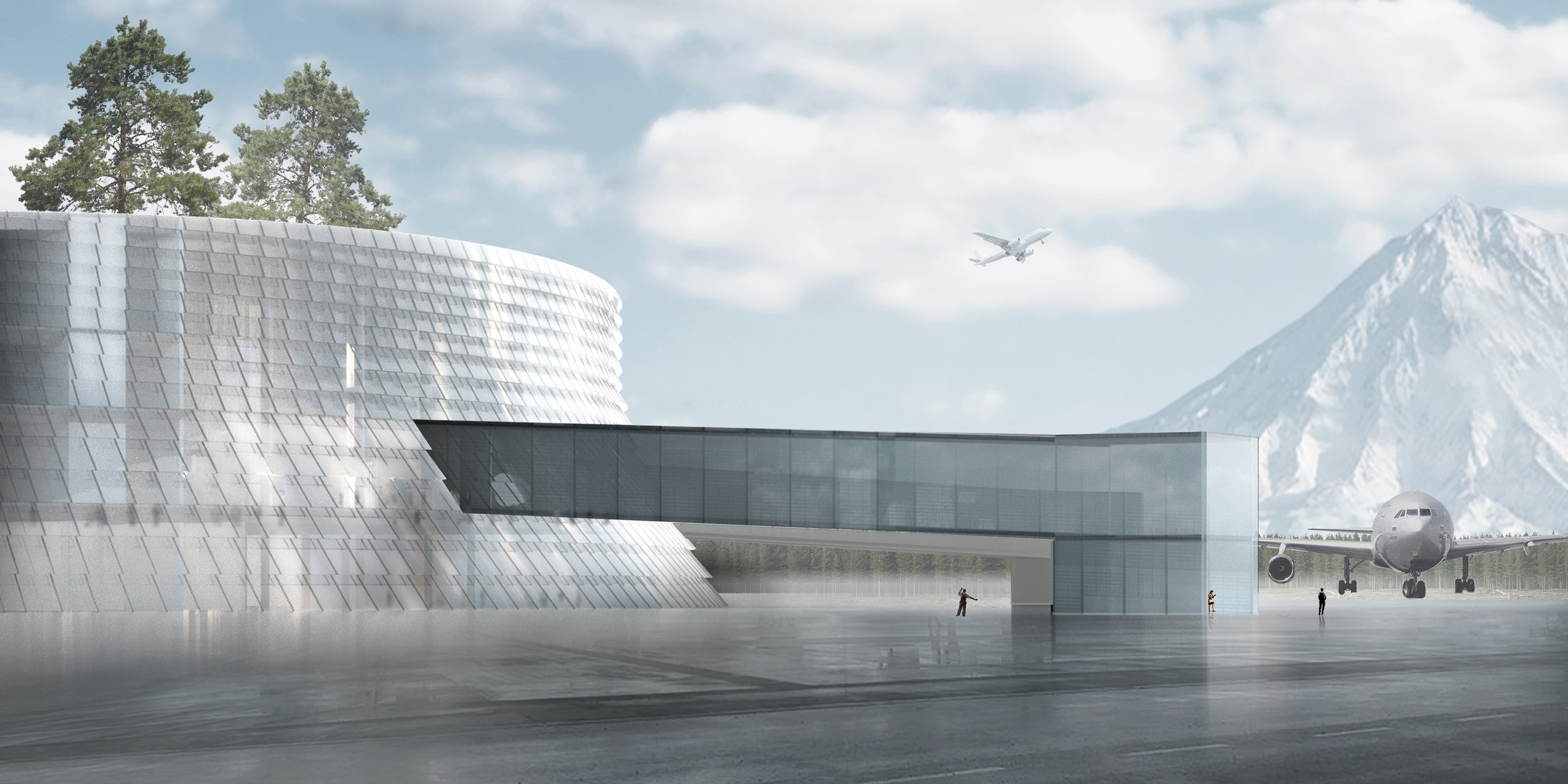 The projected new terminal at Elizovo airport, Petropavlovsk-Kamchatsky. Picture: Airport of the Regions
