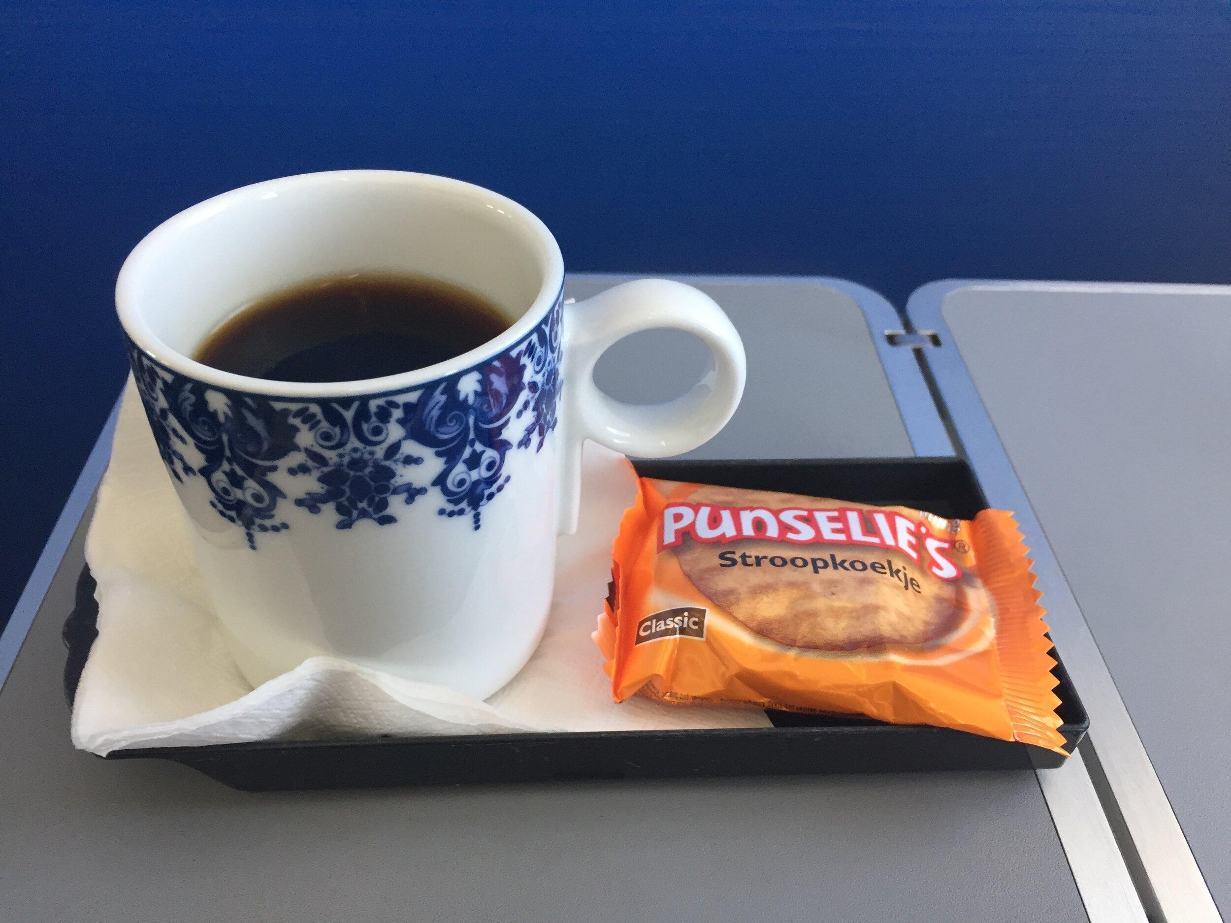 coffee klm business class.JPG