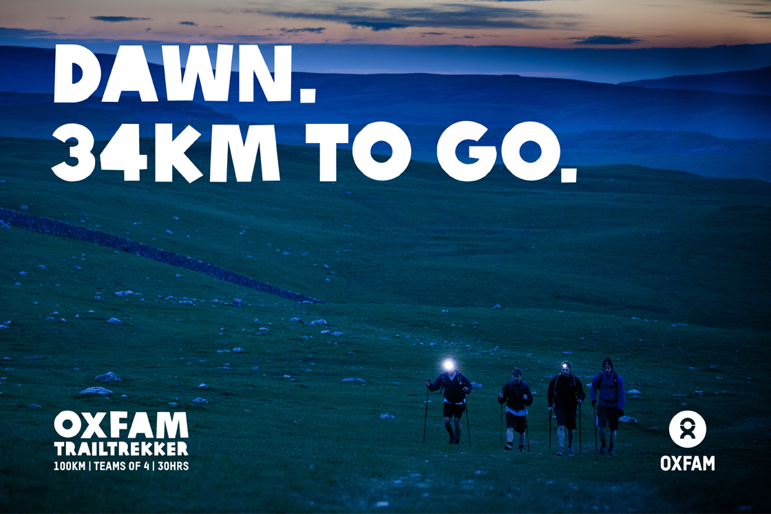 Oxfam Trailtrekker – We created a sell-out campaign for one of Oxfam's key summer events