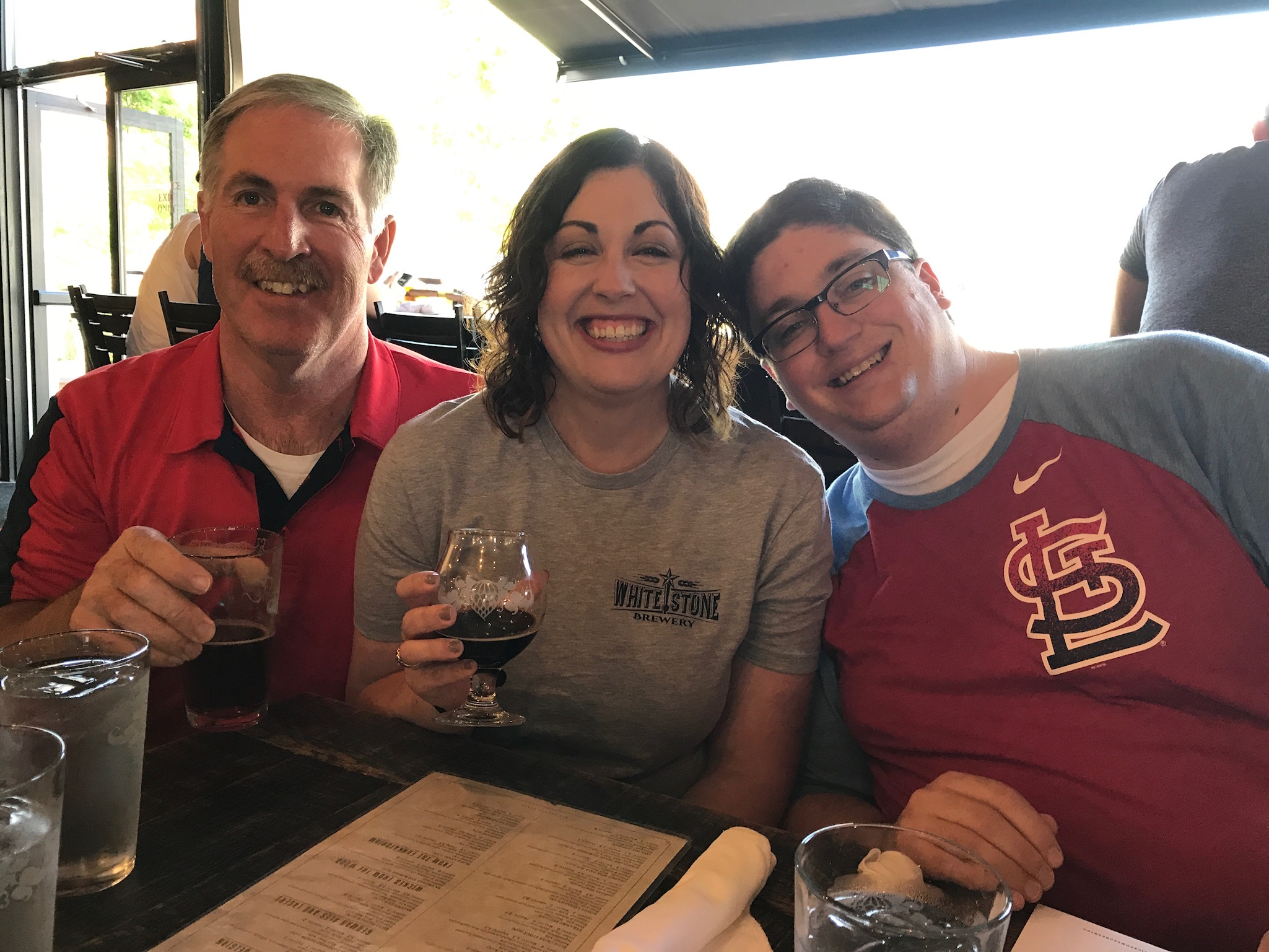Enjoying the brews at Wicked Weed Brew Pub