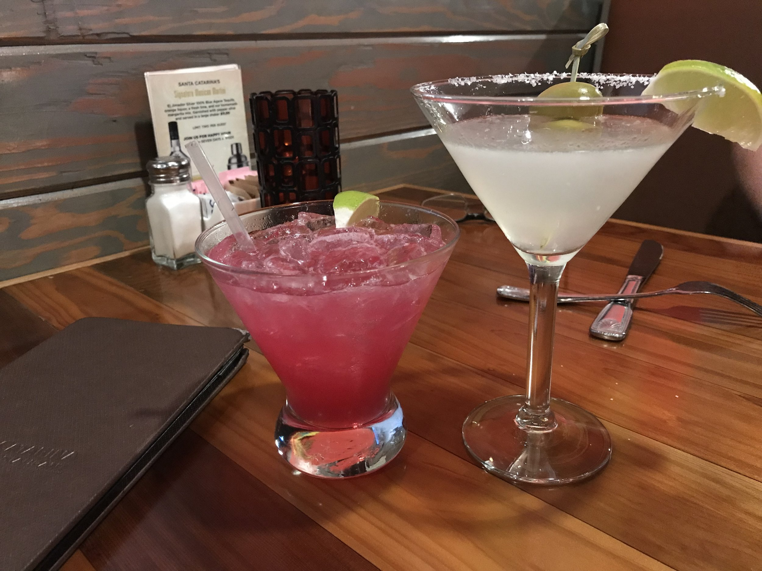 Cocktails-Prickly Pear Margarita and Mexican Martini