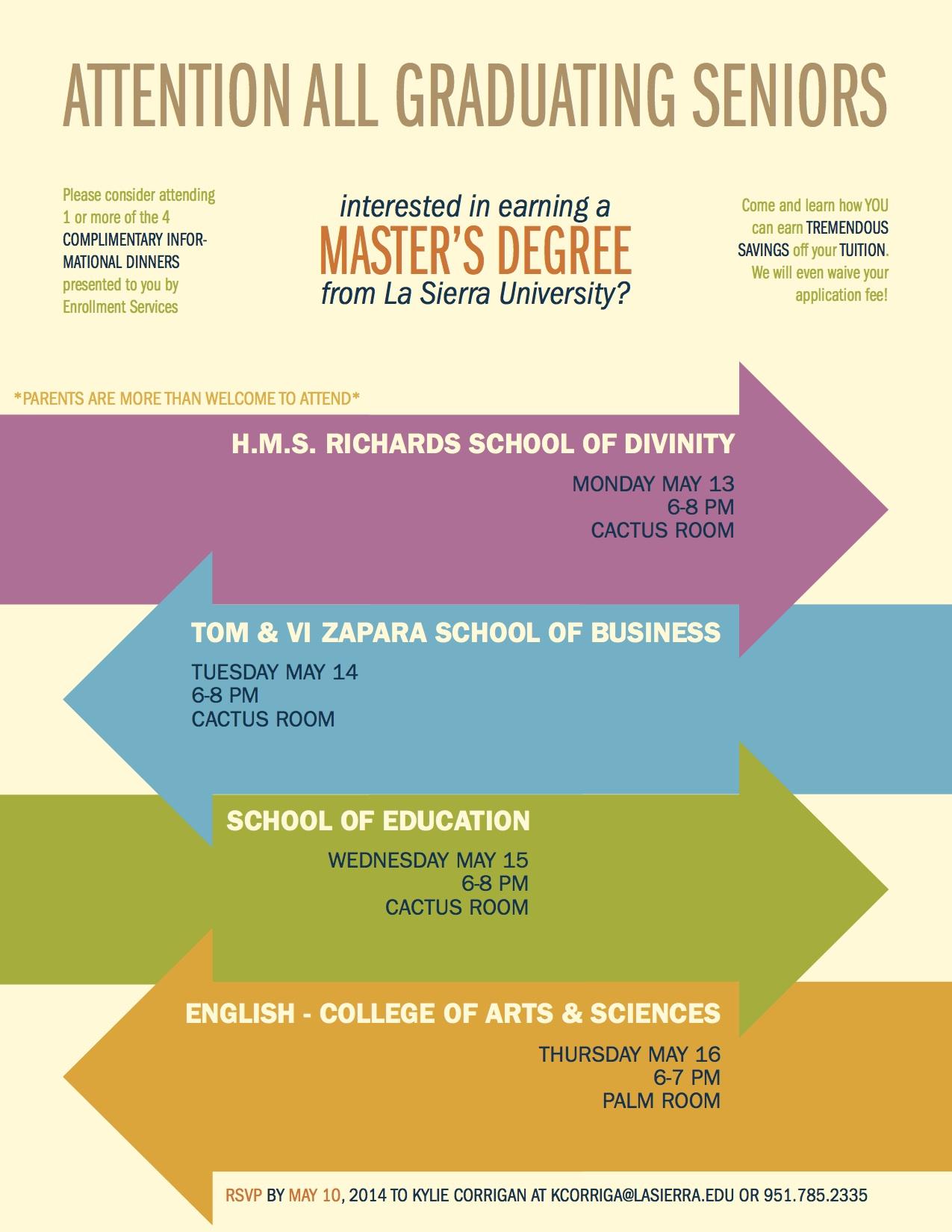 La Sierra University Admission Poster