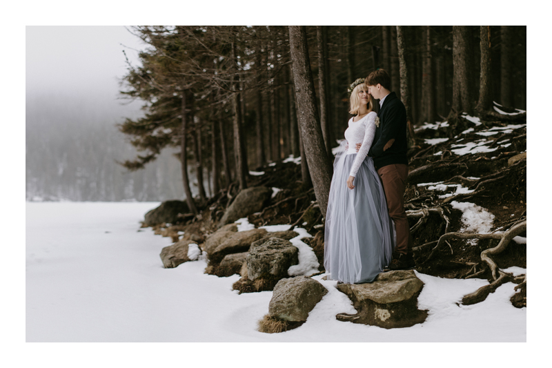 SECRET INTIMATE WINTER WEDDING IN THE MOUNTAINS