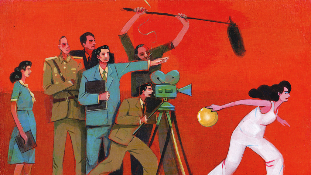 Client : Narratively - January 2017    Art Direction: Vinnie Neuberg     'I Was An Extra in a North Korean Propaganda Film.'