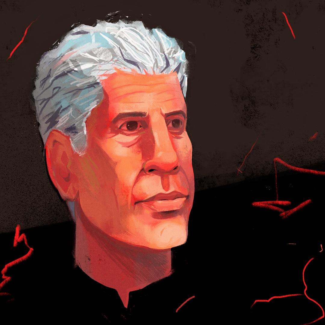 Portrait of Anthony Bourdain