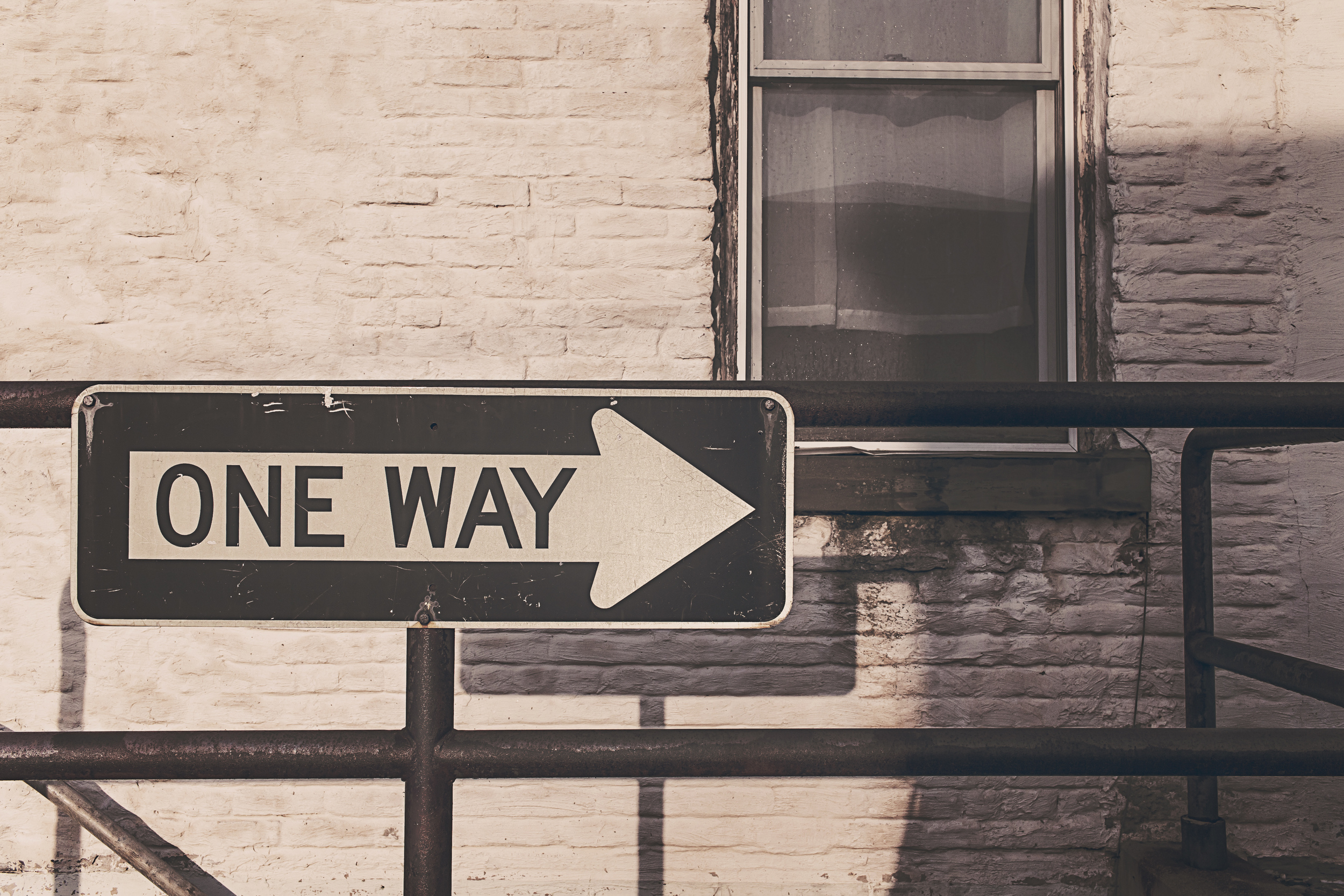 While the sign says 'one way'... it doesn't mean it is the RIGHT or ONLY way....