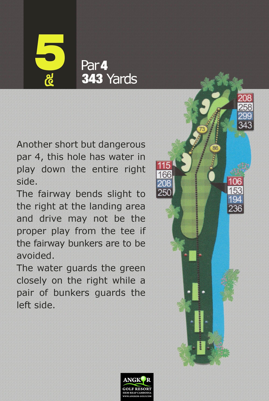 Hole 5 - Par 4 343 Yards