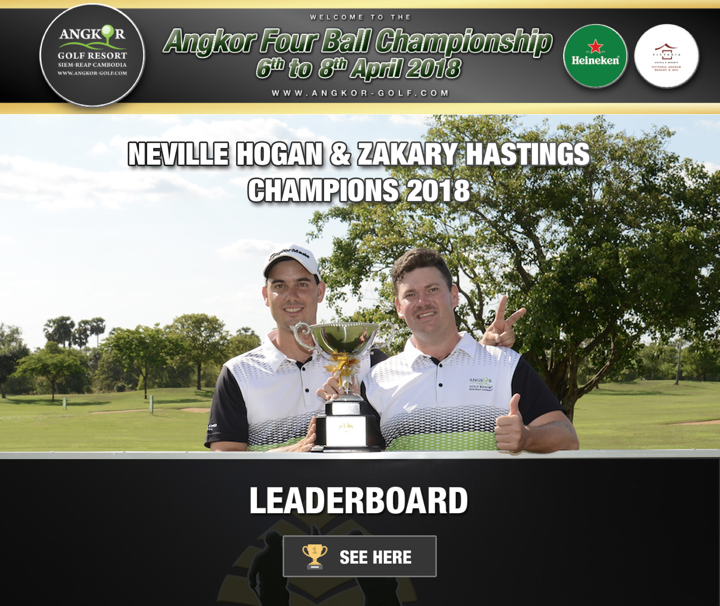 Leaderboard Angkor Four Ball 2018