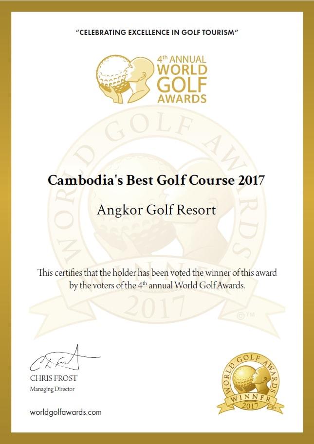 Cambodia's Best Golf Course 2017