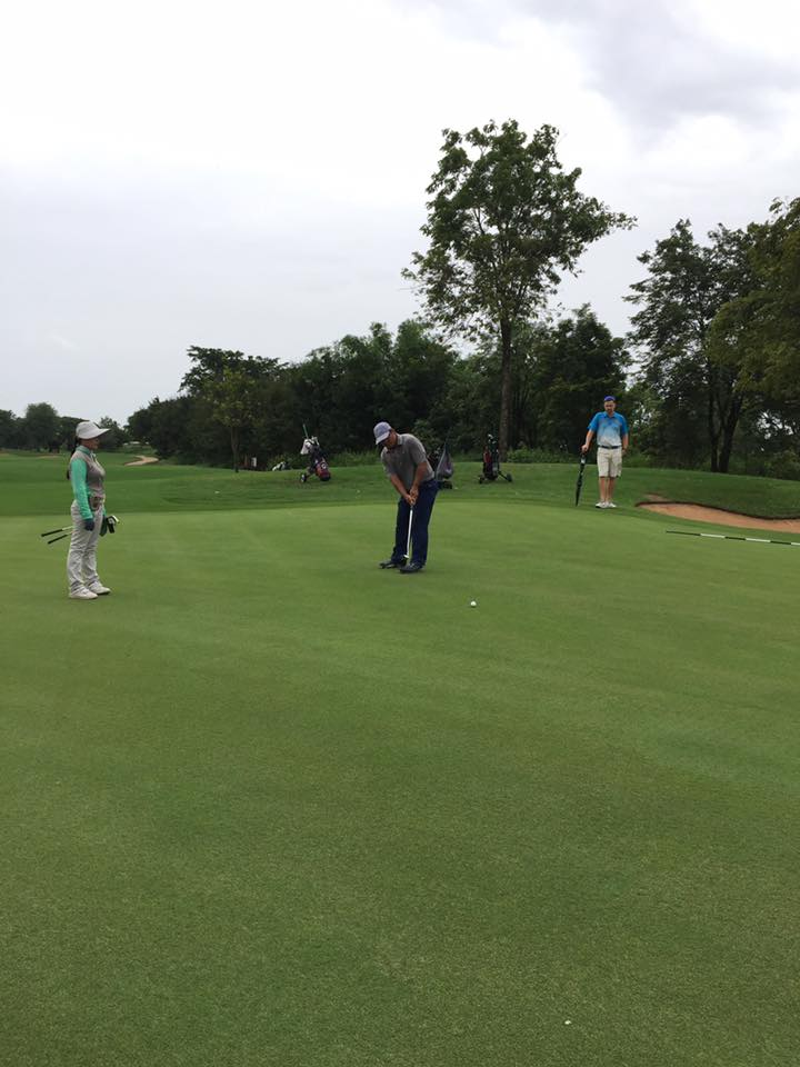 putting green on hole 3