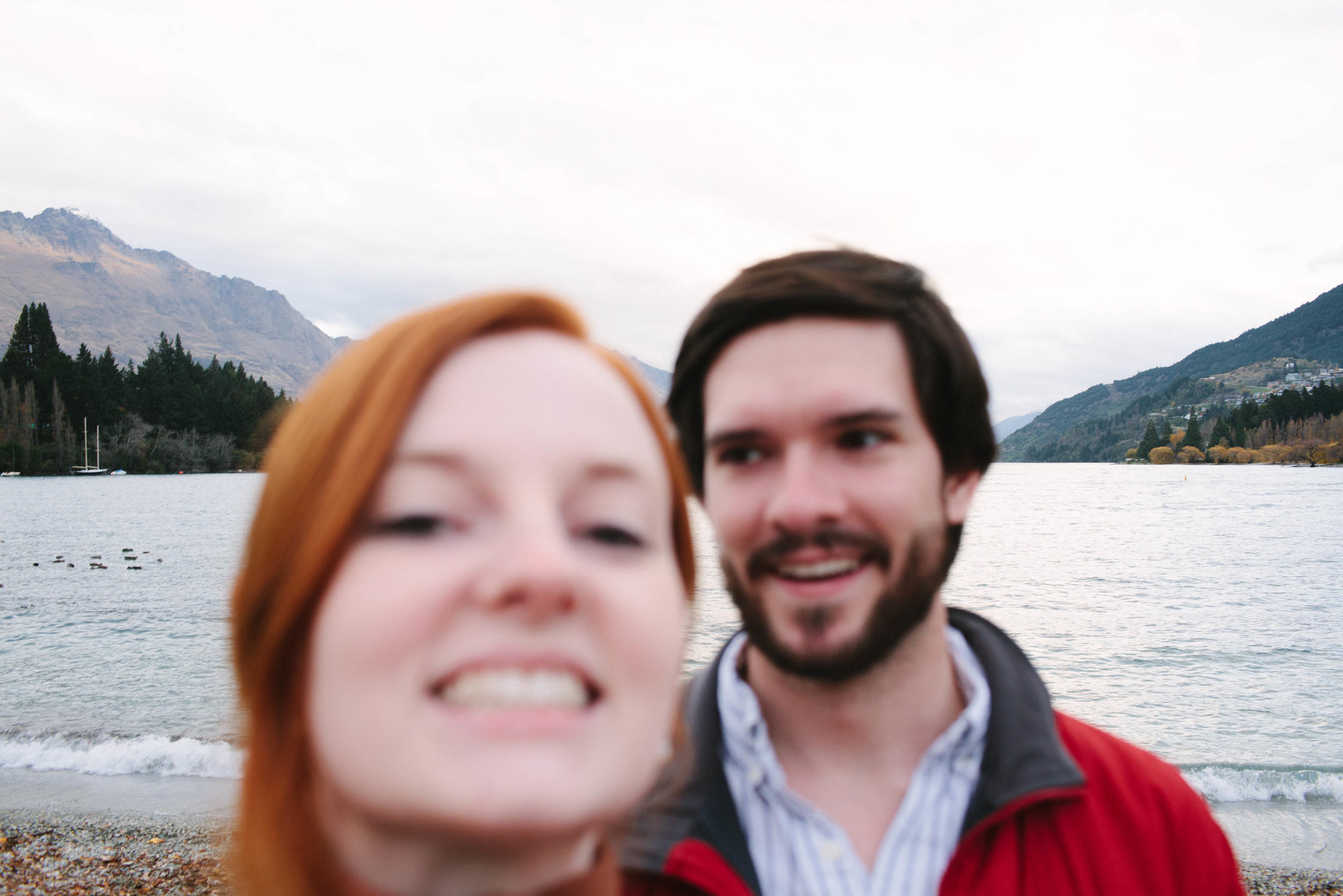 Our attempt at a selfie with my big ol' camera. HA.