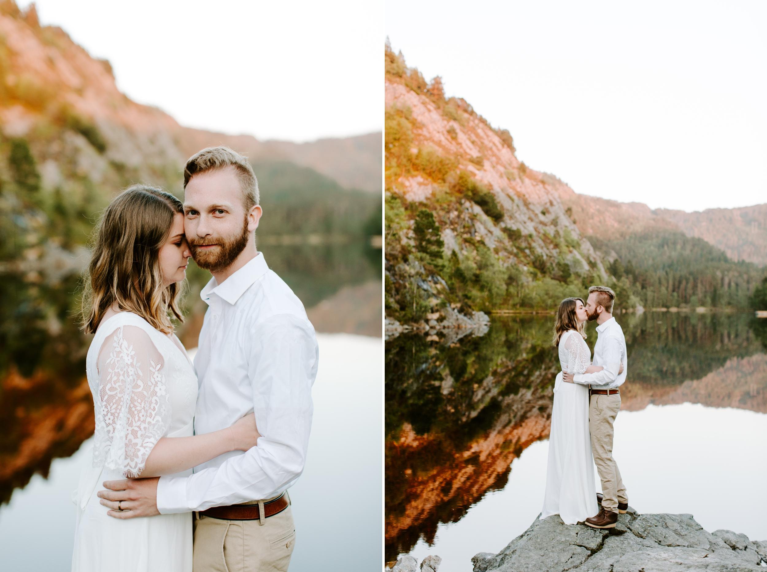 norway lake wedding outside of bergen