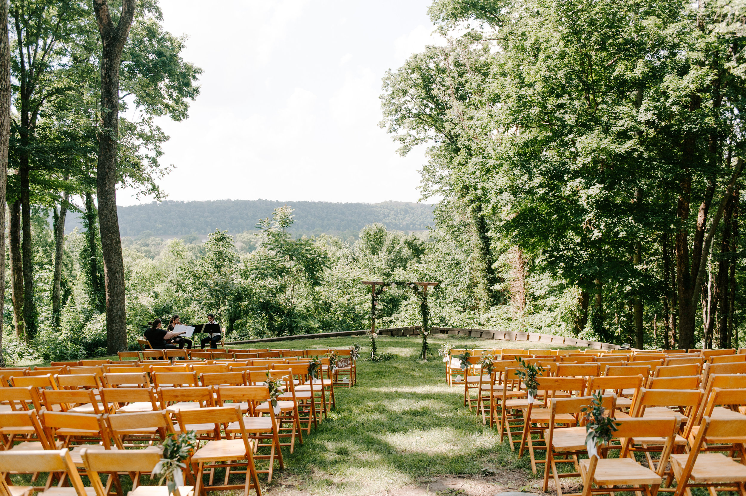outdoor wedding ceremony set up
