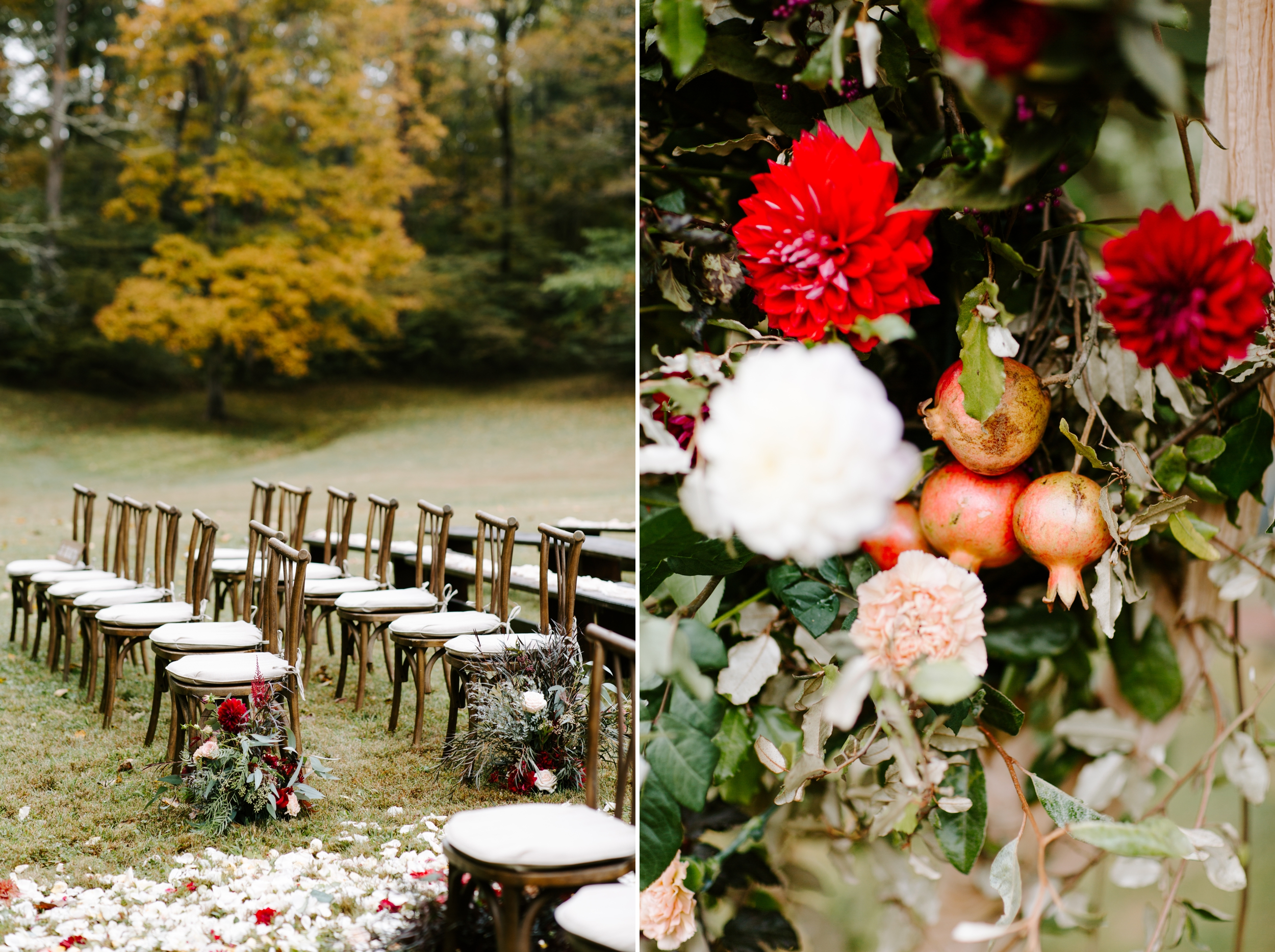 fall outdoor ceremony details