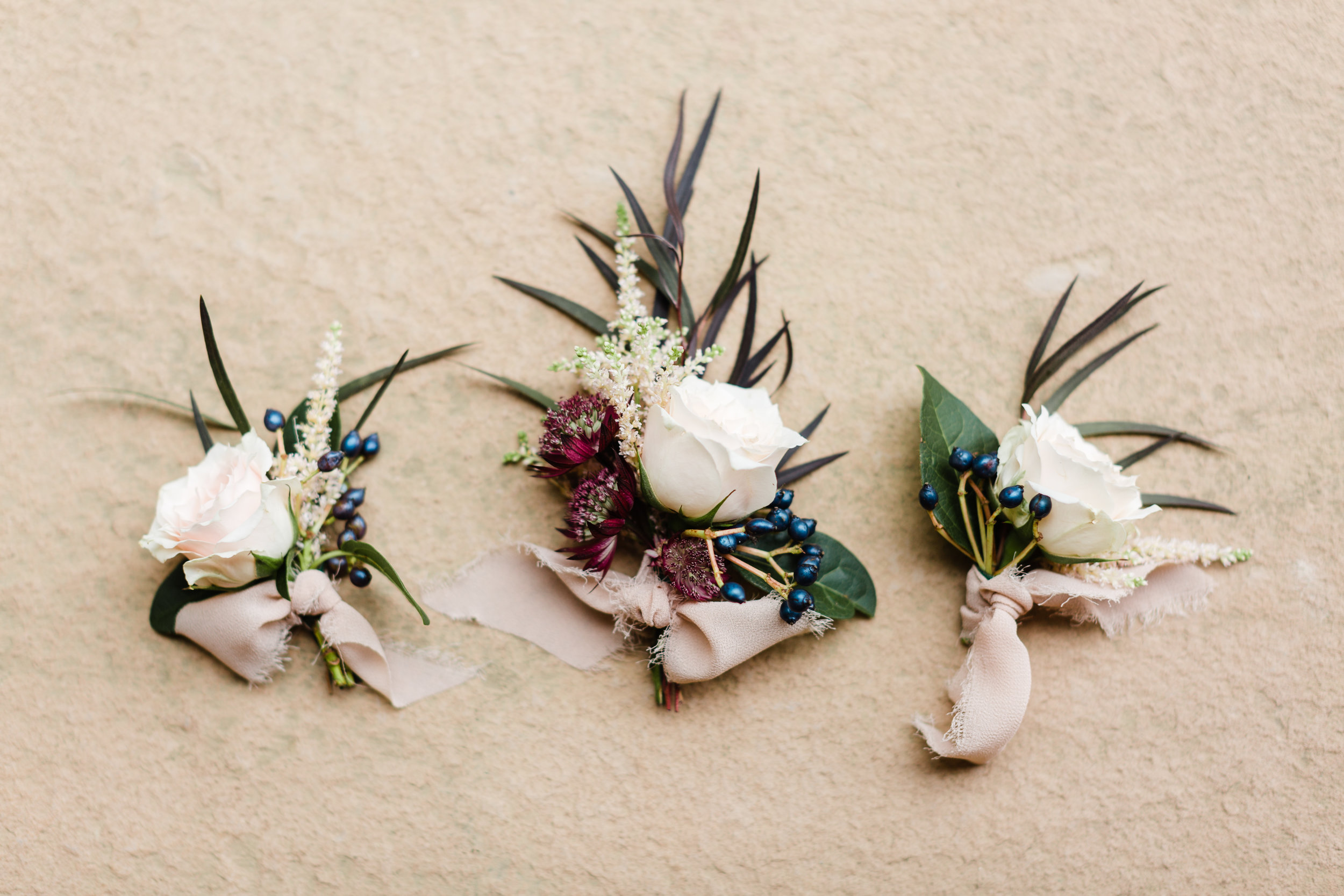 boutonnieres by basil and bergamot in nashville tn