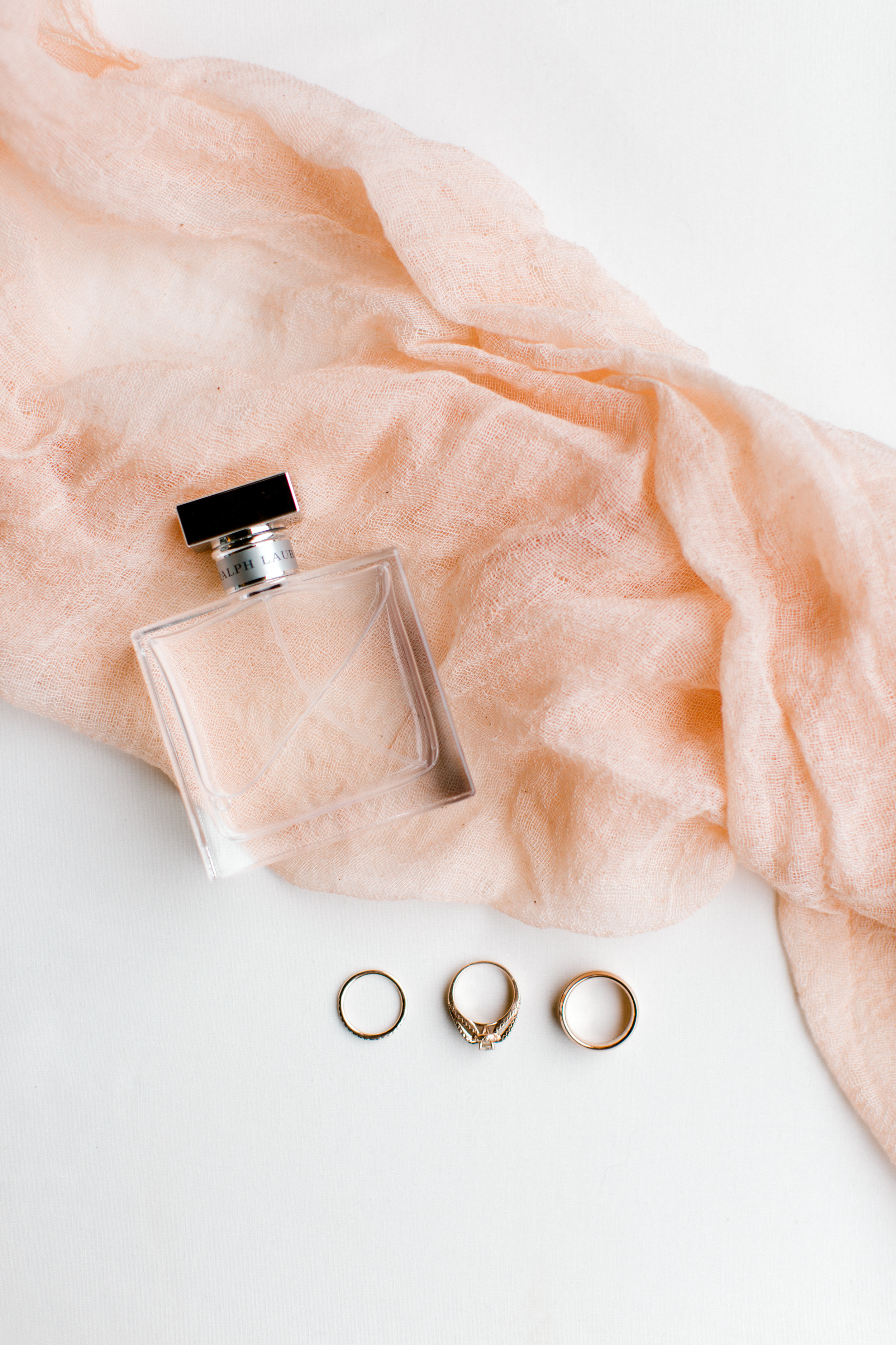 bridal perfume and ring details