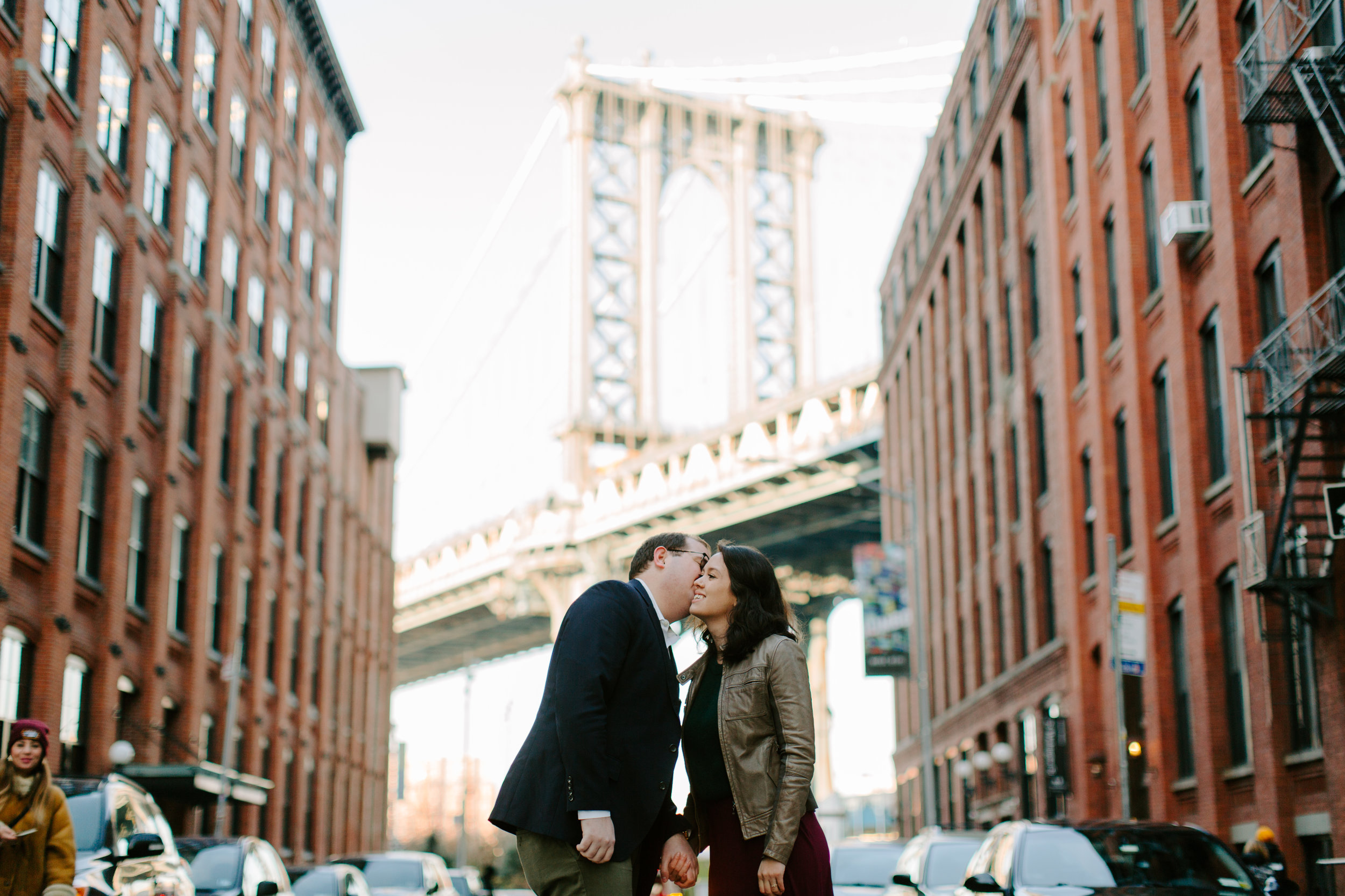 engagement session in dumbo nyc