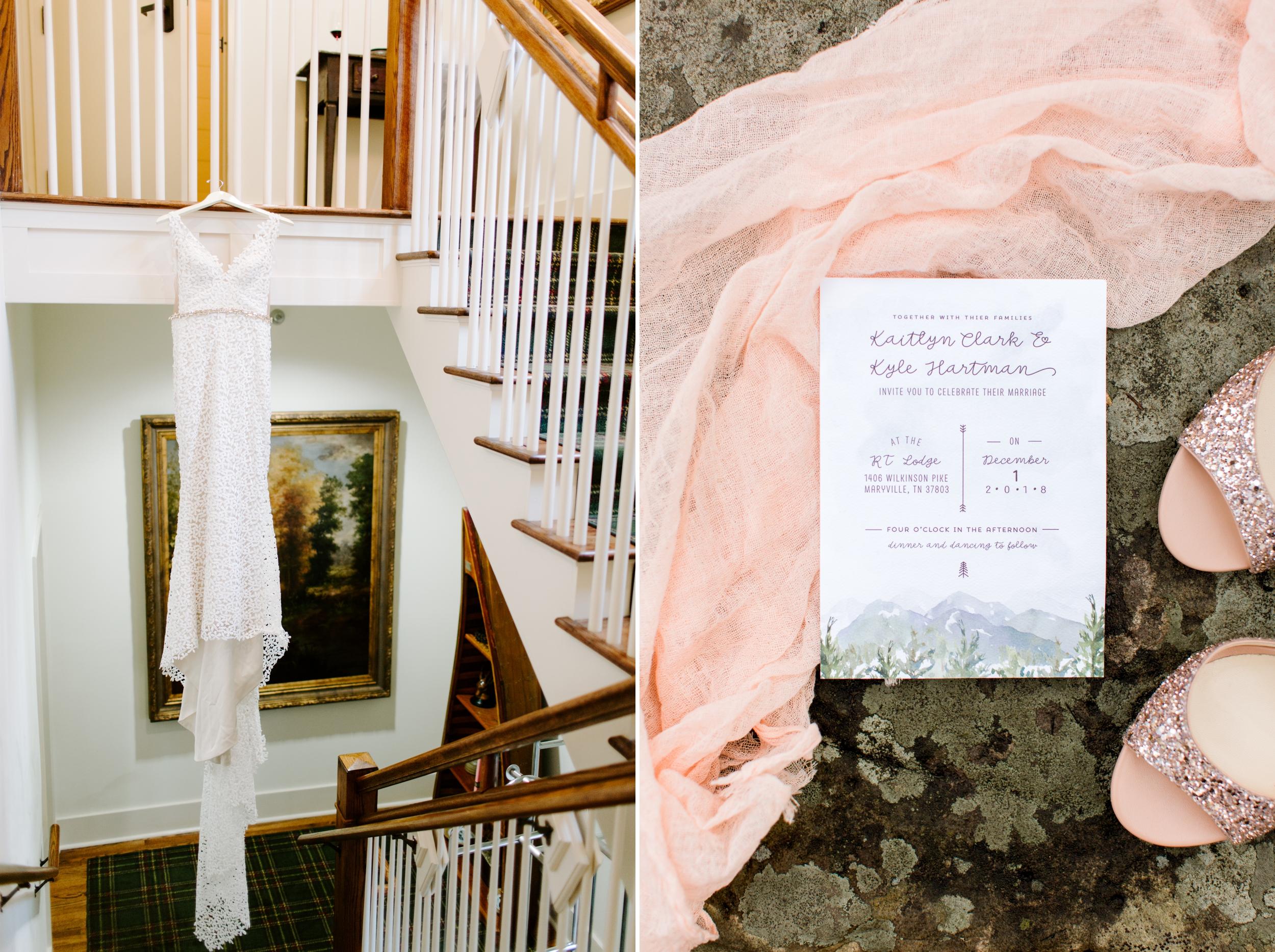 laudae bride dress and invite suite detail shots