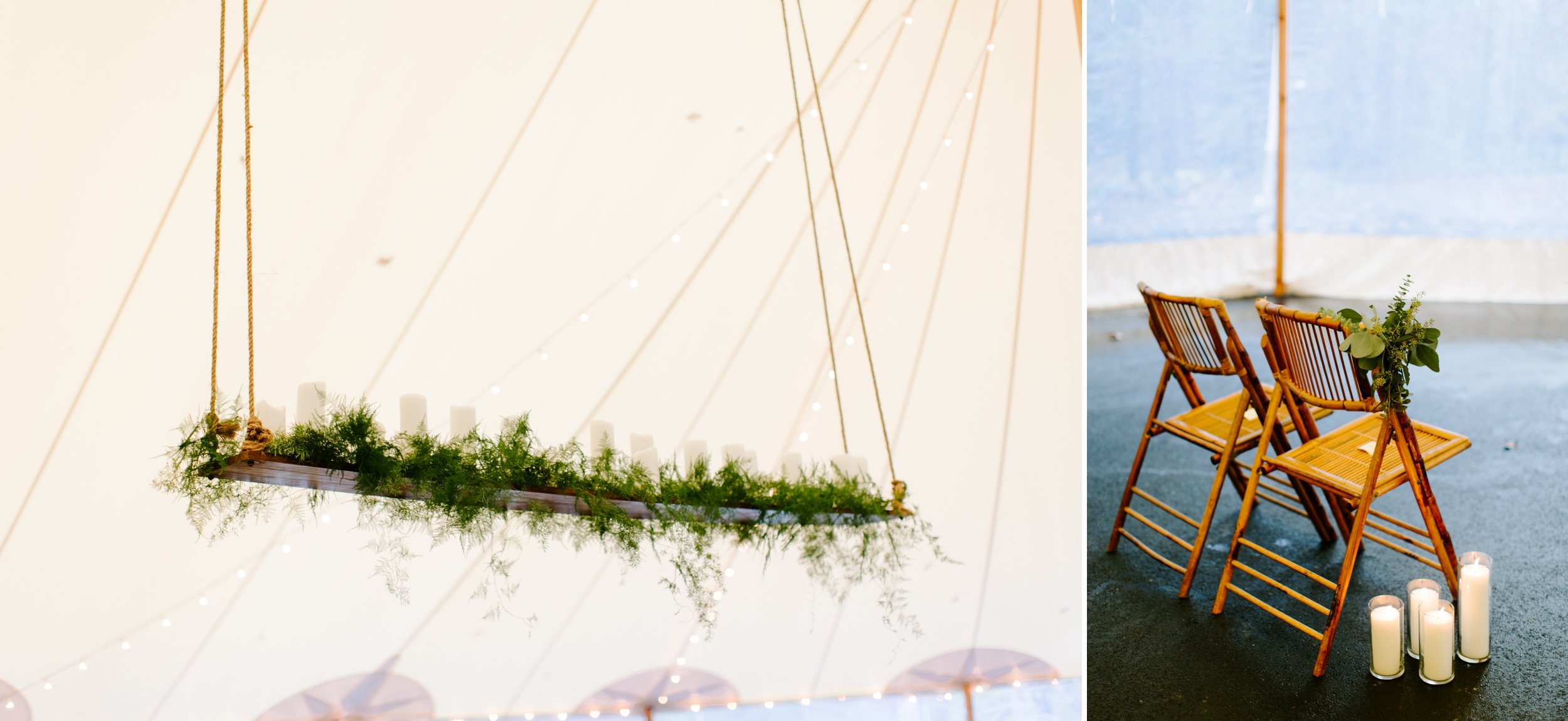 details under the sperry tent at rt lodge with florals by wade floral co