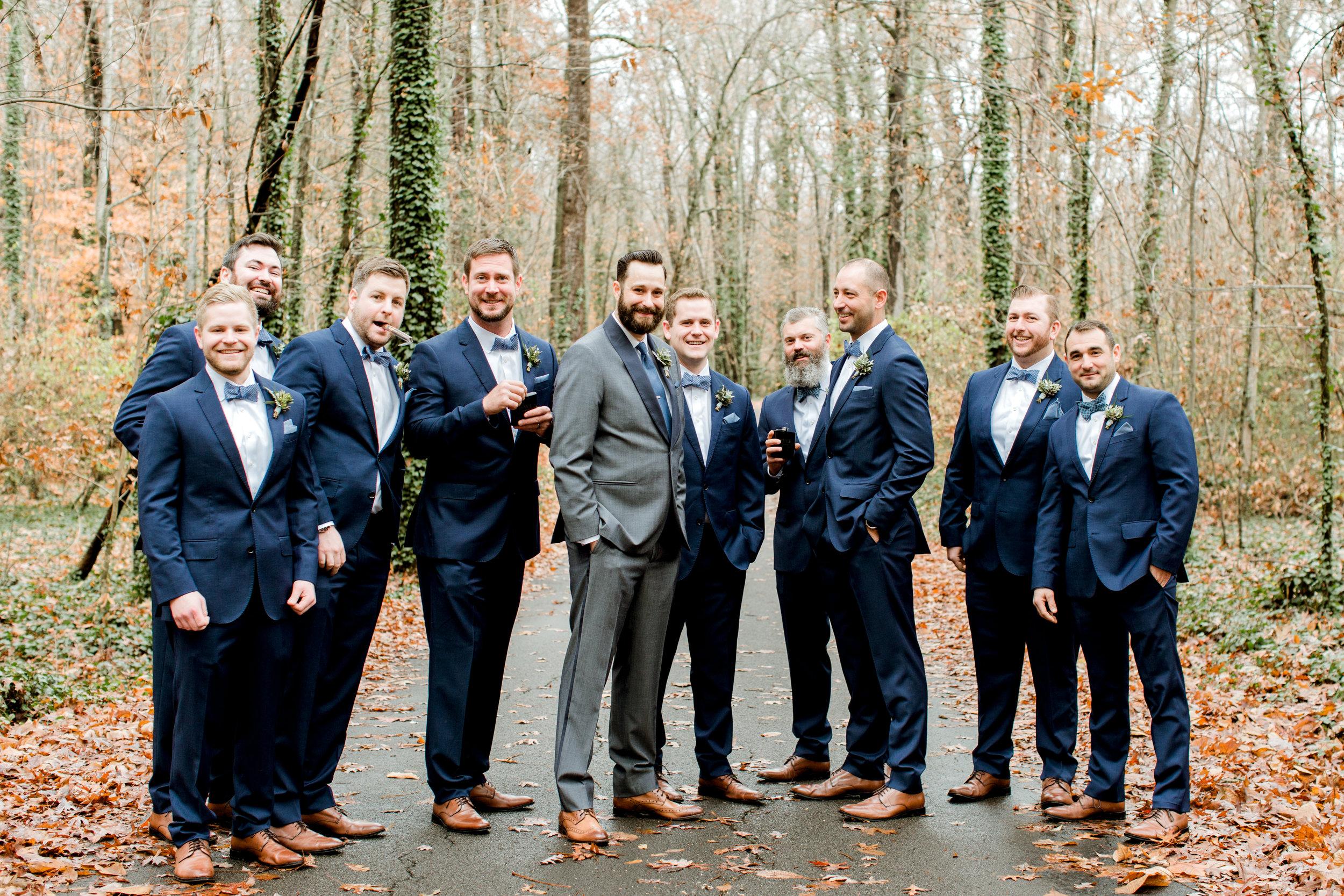 groomsmen at rt lodge in maryville tn
