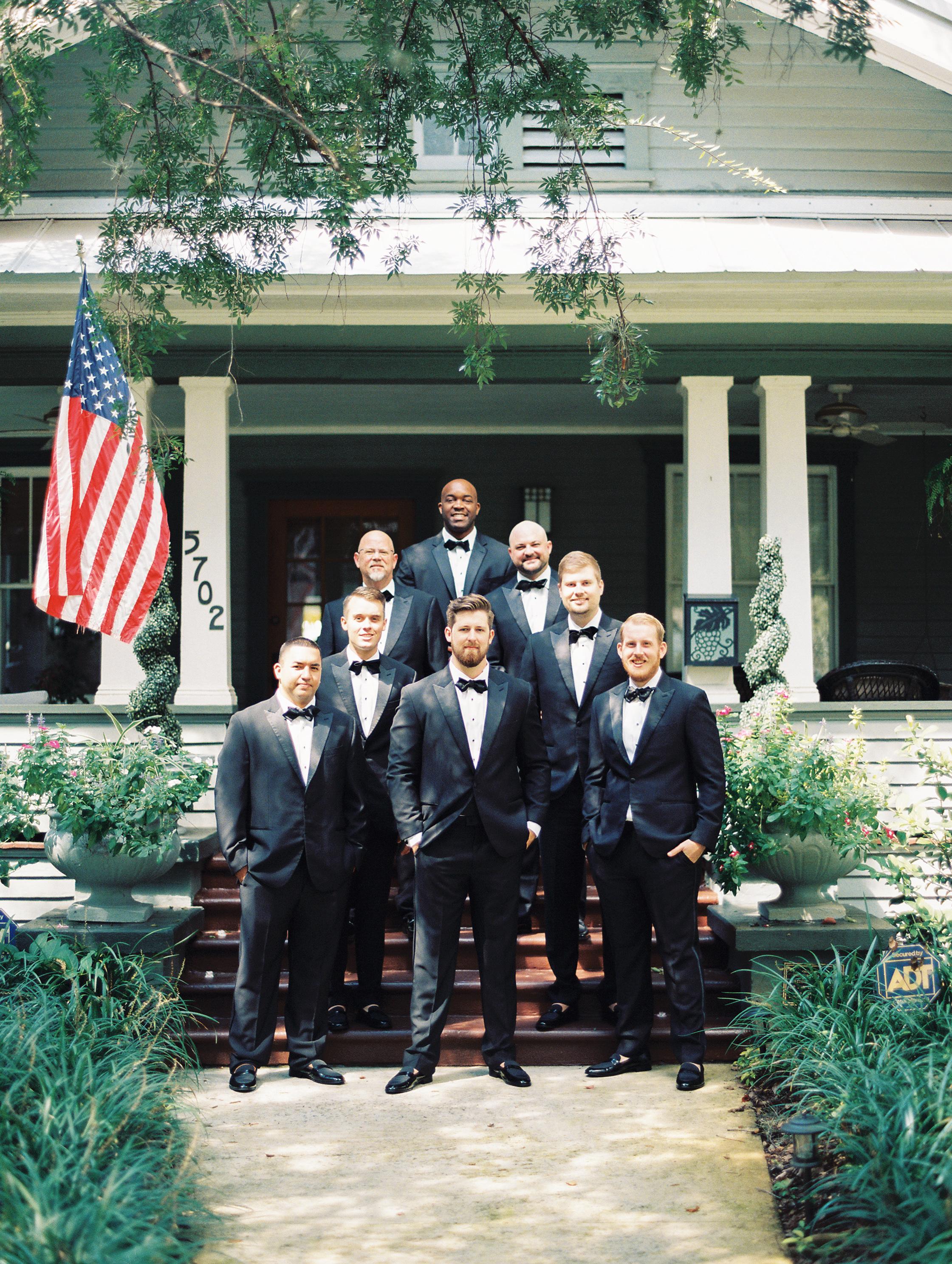 groomsmen on film